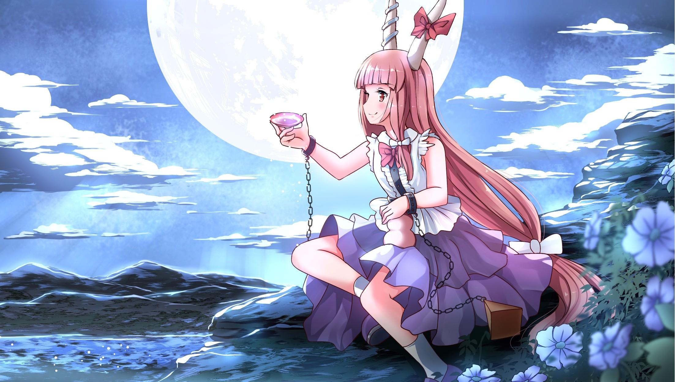 Fondos De Pantalla Ilustración Noche Pelo Largo Anime