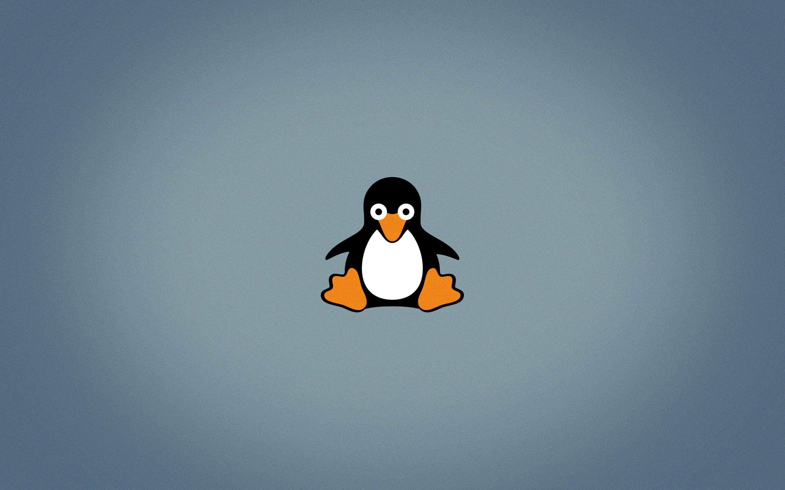 デスクトップ壁紙 図 ペンギン ロゴ 青 漫画 Linux タックス