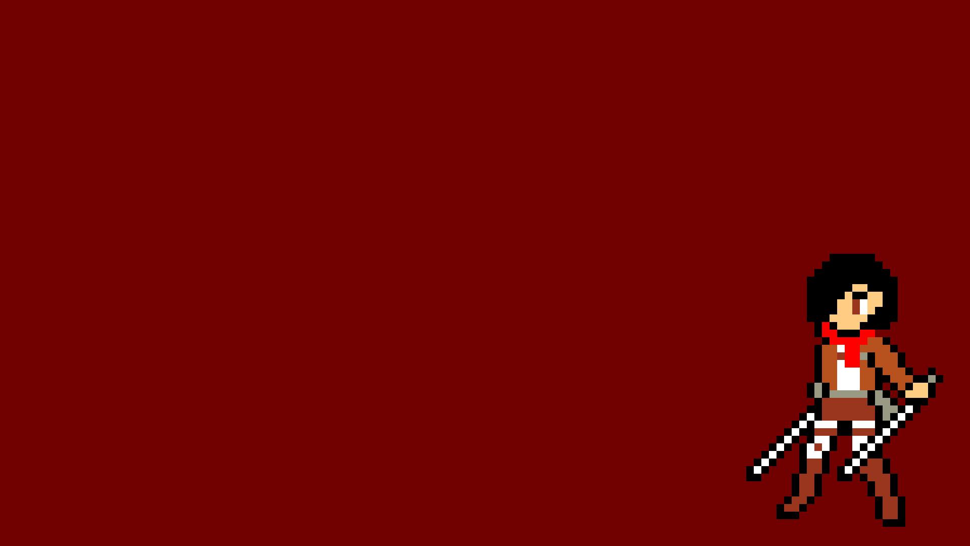Fond Décran Illustration Pixel Art Rouge Dessin Animé