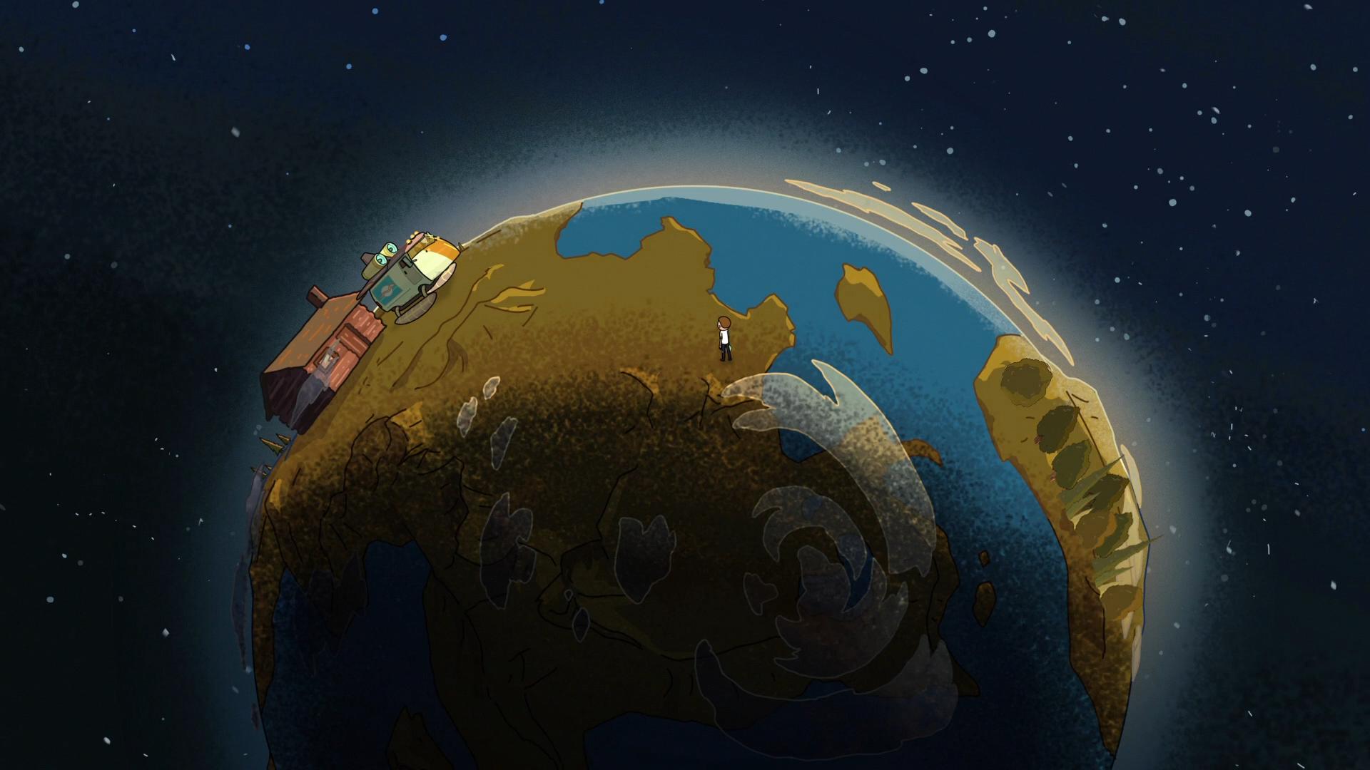 Fond D Ecran Illustration Planete Espace Terre Dessin Anime