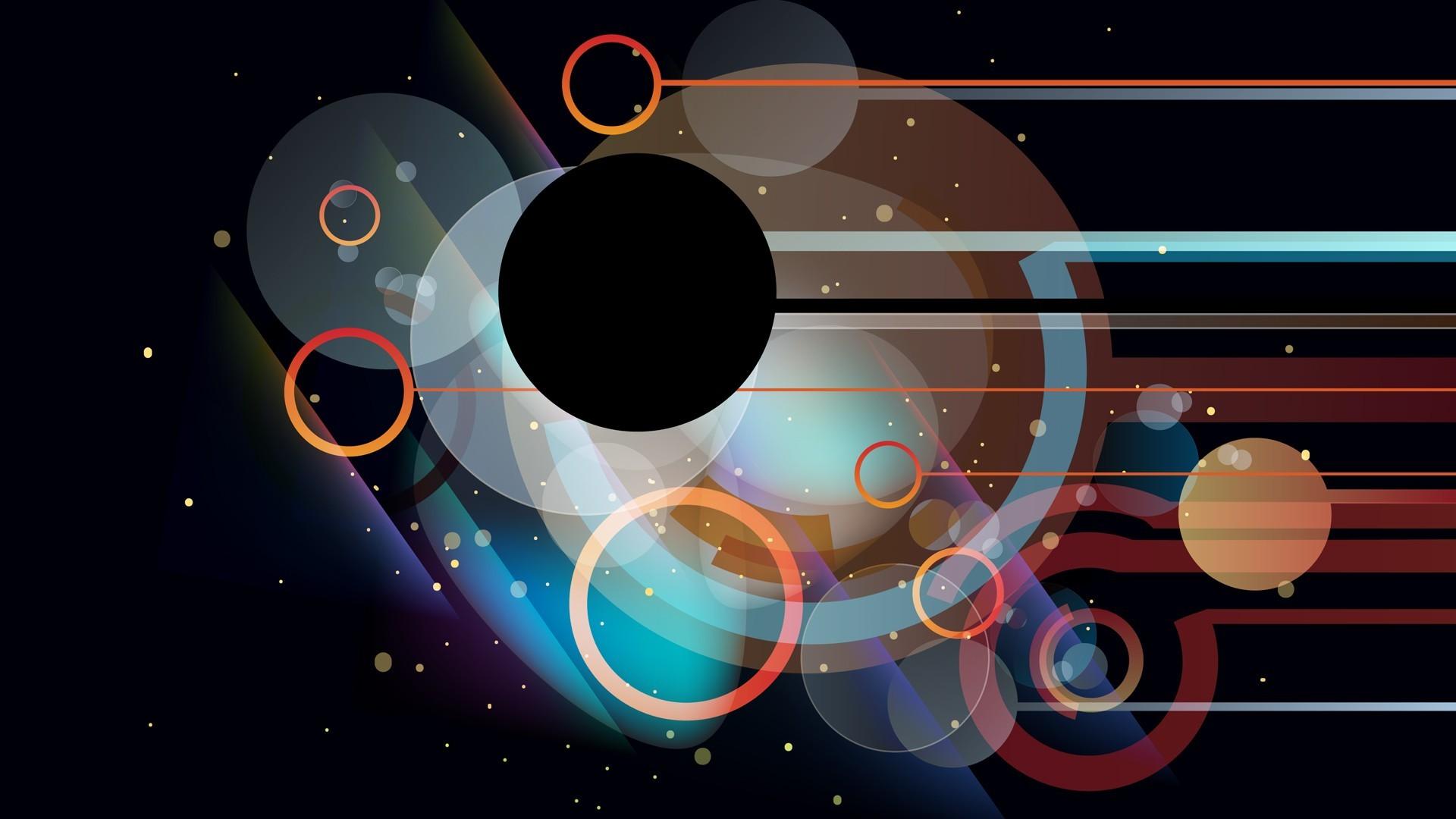 wallpaper illustration planet vehicle circle lines shapes