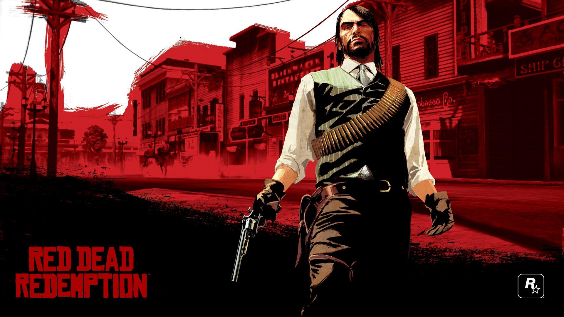 Wallpaper Illustration Poster Red Dead Redemption
