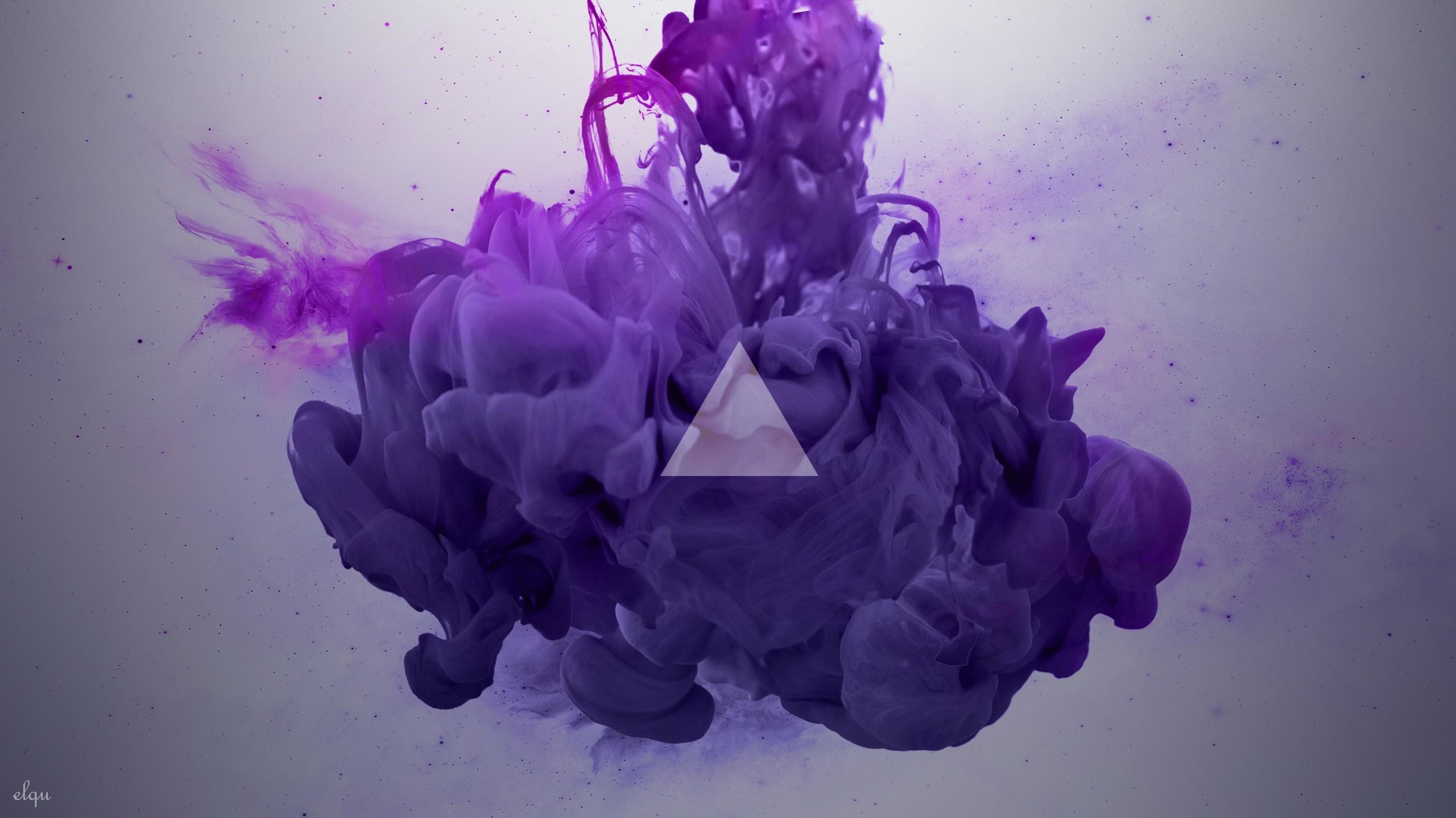 Fond D Ecran Illustration Violet Fumee Bleu Triangle Rose