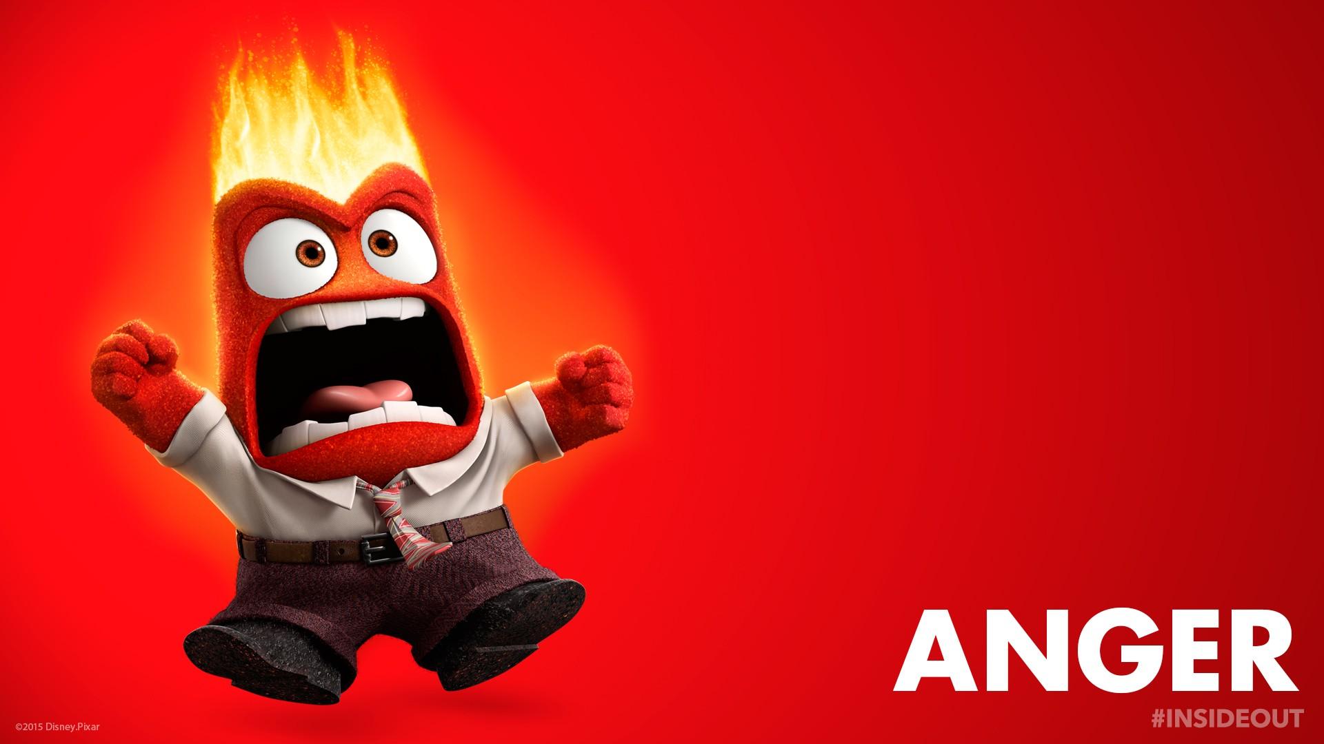 Sfondi illustrazione rosso rabbia cartone animato