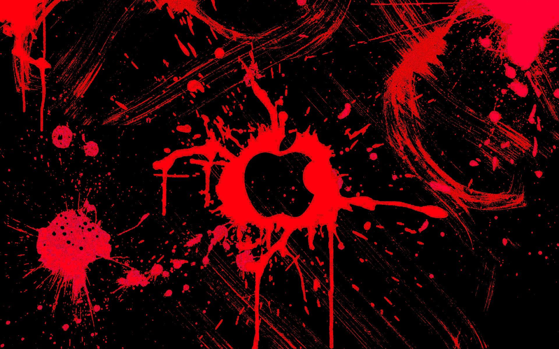 Wallpaper Illustration Red Circle Apple Inc Darkness Computer