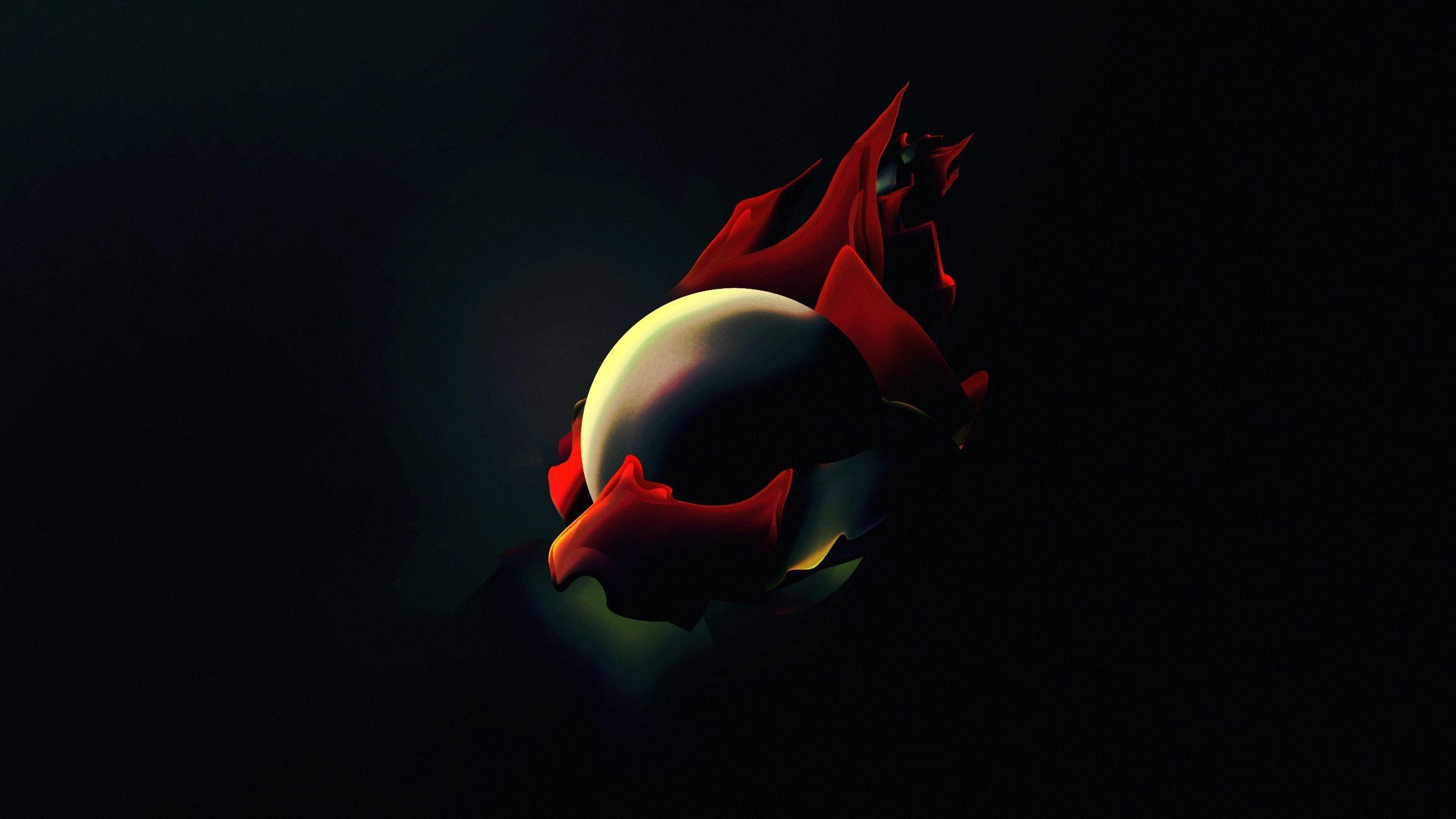 Fond Décran Illustration Rouge Fond Sombre Ballon