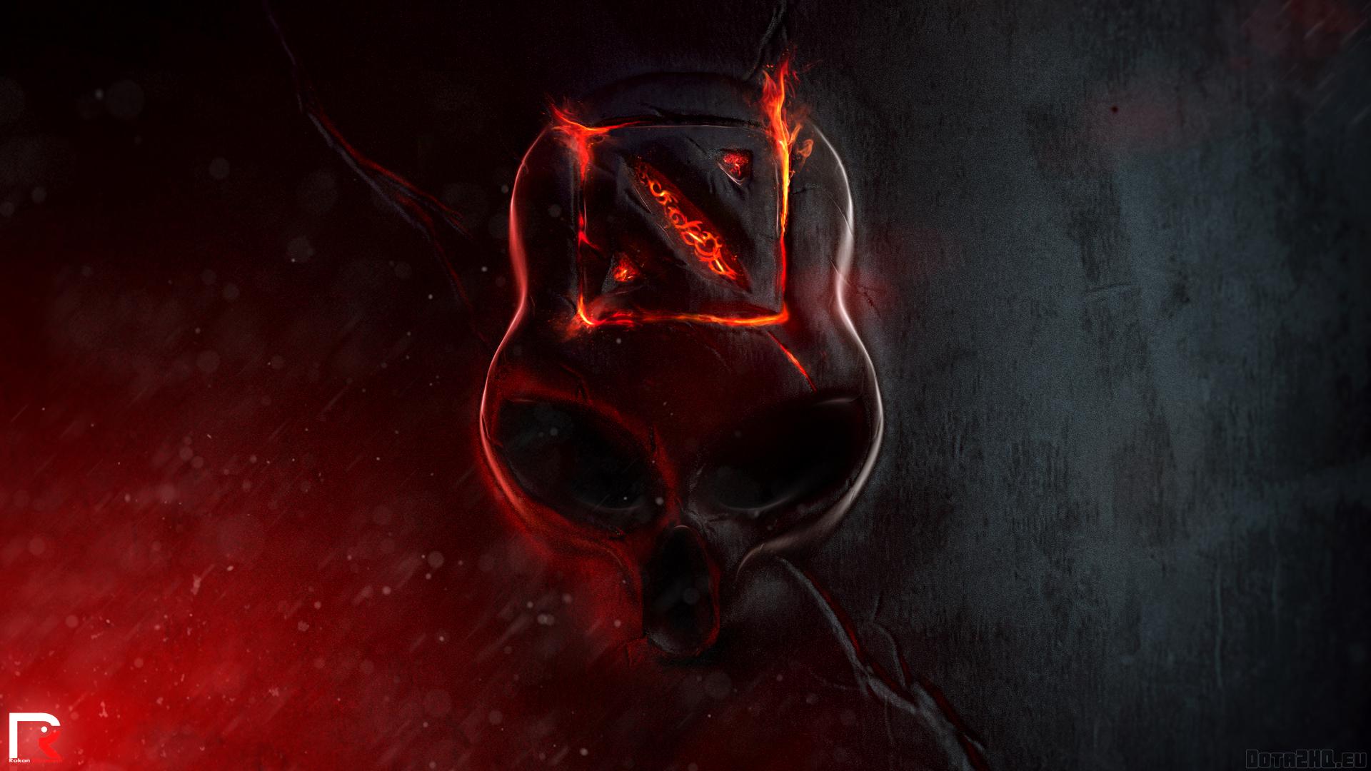 Wallpaper Illustration Red Logo Fire Skull Demon