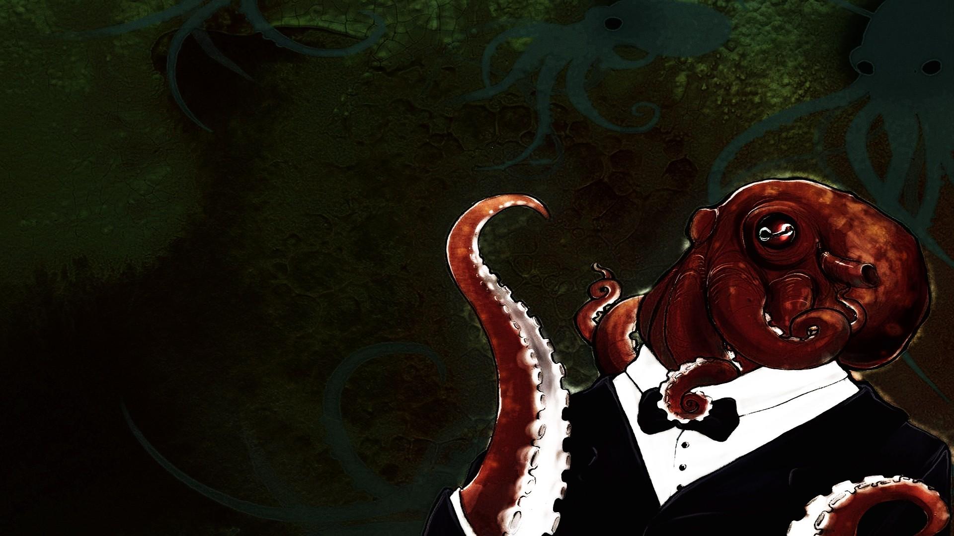 картинка с курящим осьминогом женщине