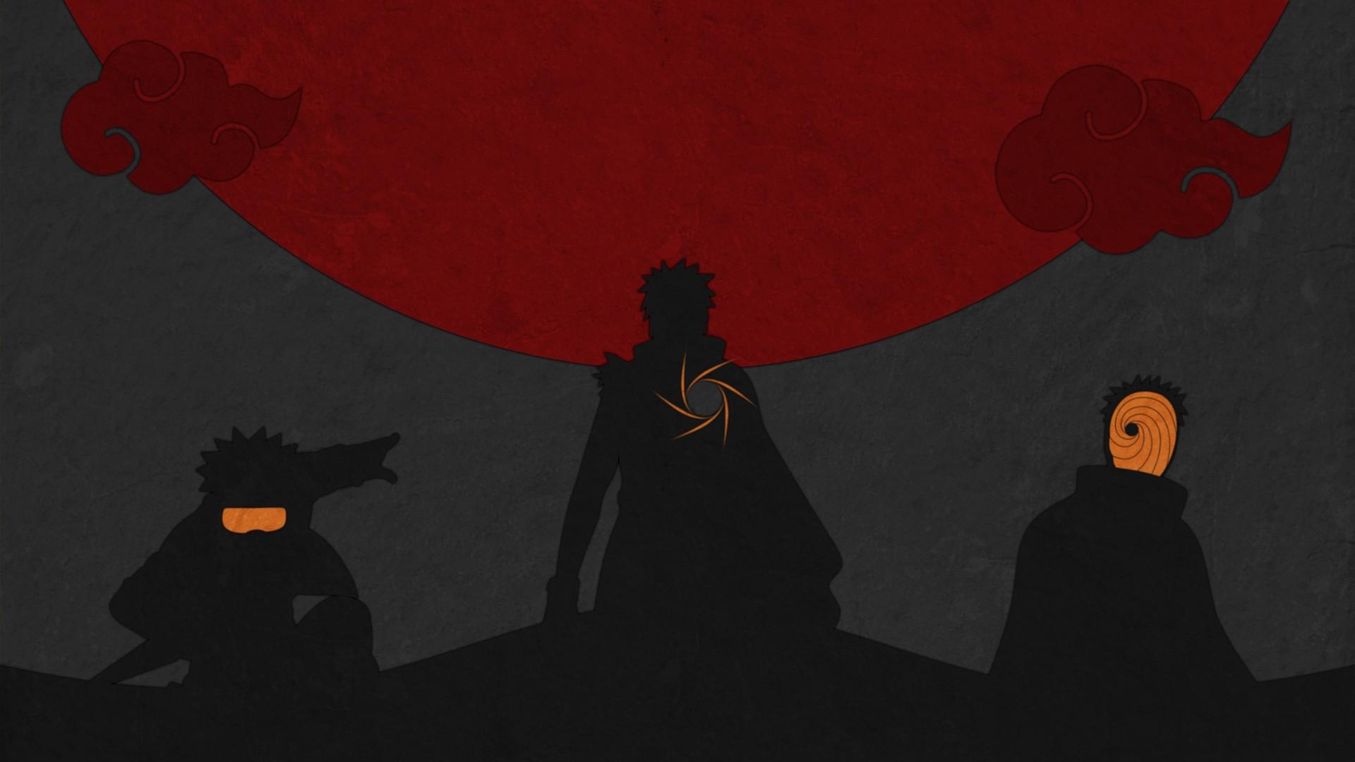 Wallpaper : illustration, silhouette, Naruto Shippuuden ...
