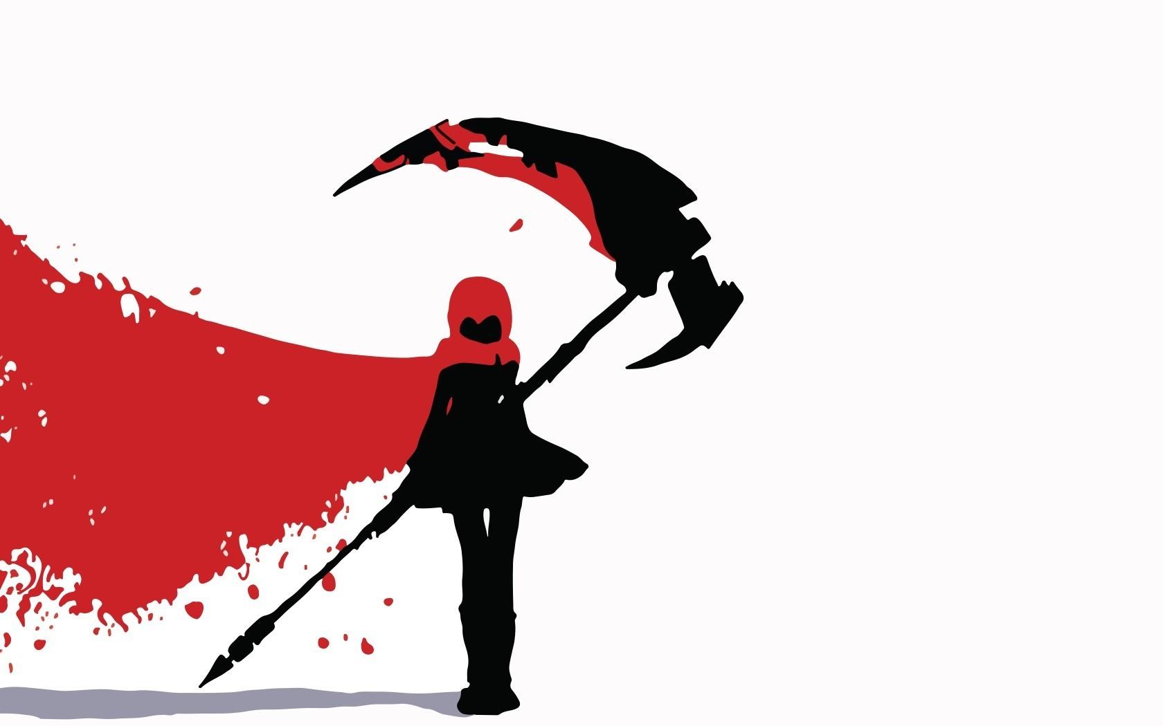 Illustration Silhouette Cartoon RWBY Rooster Teeth Ruby Rose Bird 1680x1050 Px