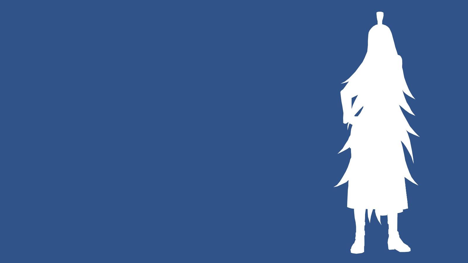 デスクトップ壁紙 図 単純な背景 アニメ シルエット 青 ナルト