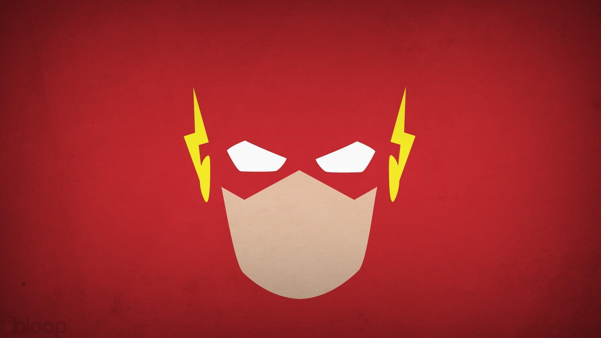 Fond d 39 cran illustration fond simple minimalisme fond rouge h ros super h ros dc comics - Flash le super heros ...