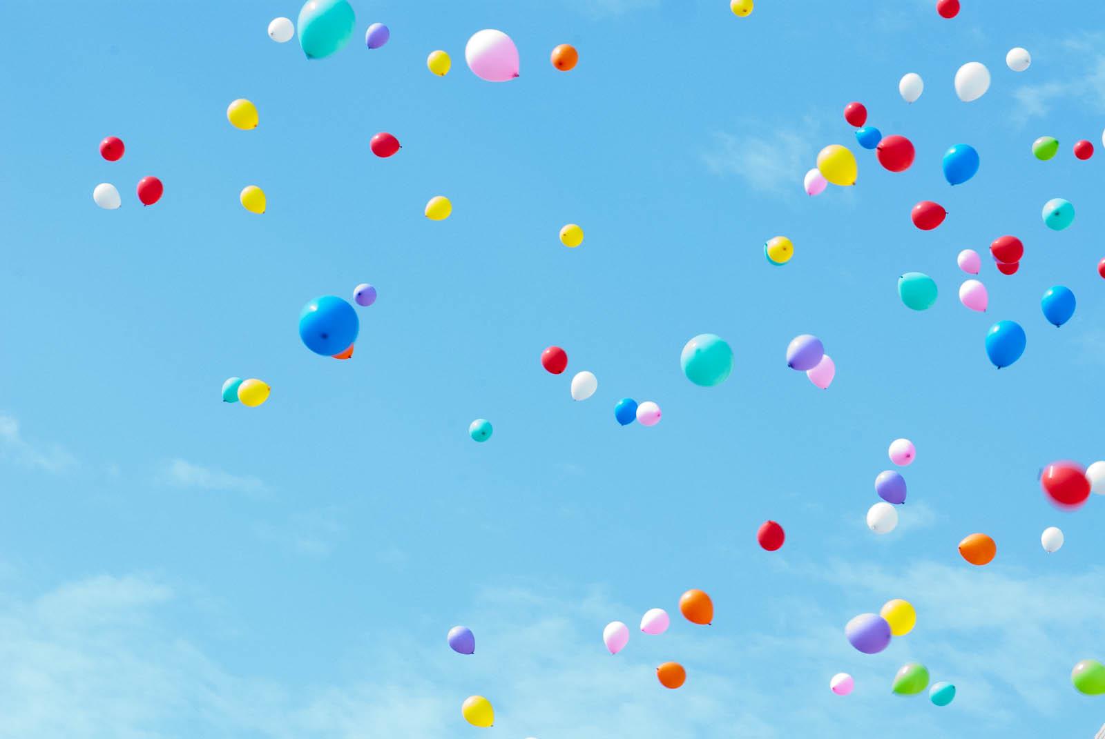Гифка летят шары