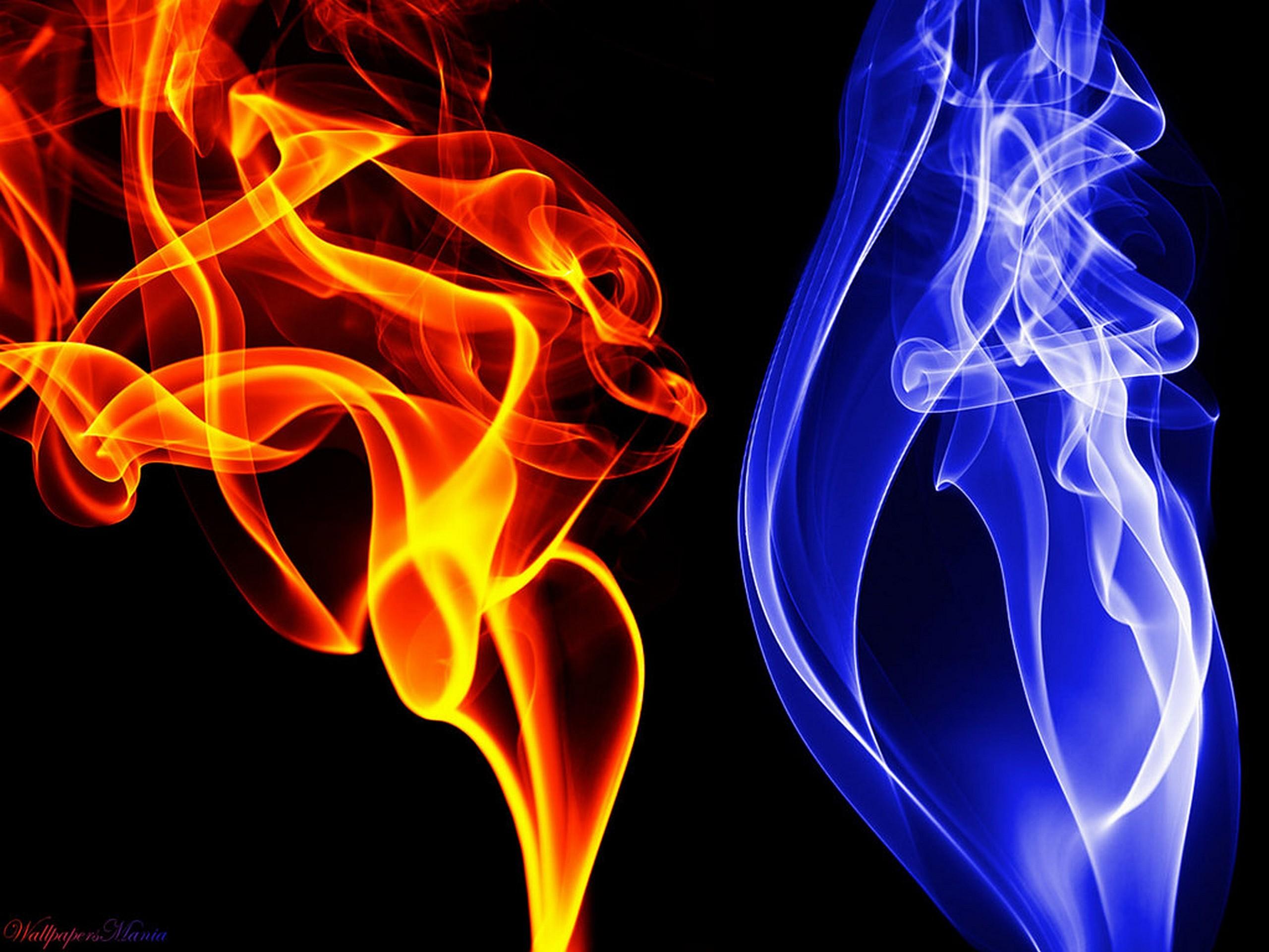 Sfondi Illustrazione Fumo Fuoco Fiamme Blu Fiamma Font