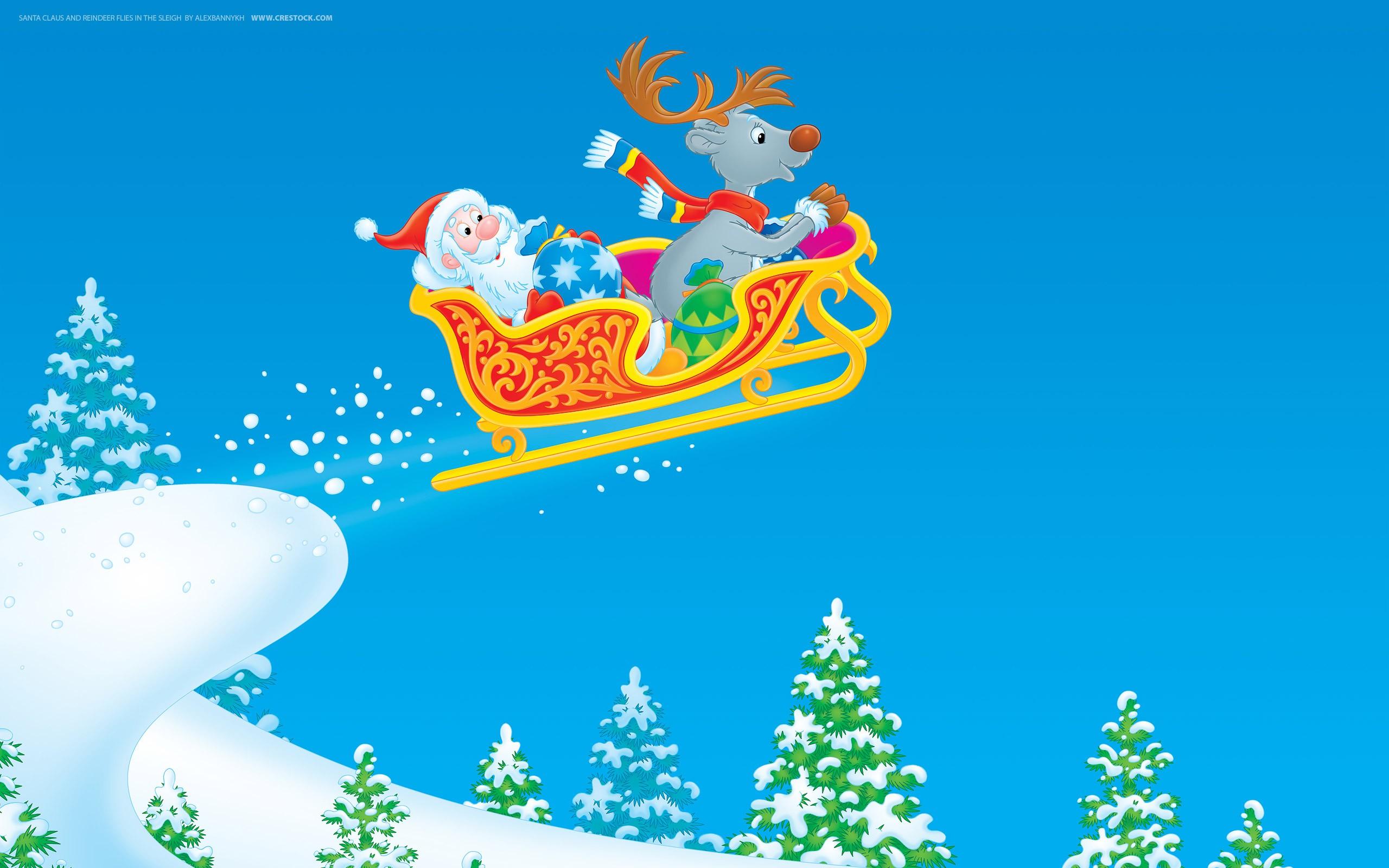 Sfondi Natalizi Renne.Sfondi Illustrazione La Neve Cartone Animato Albero Di Natale