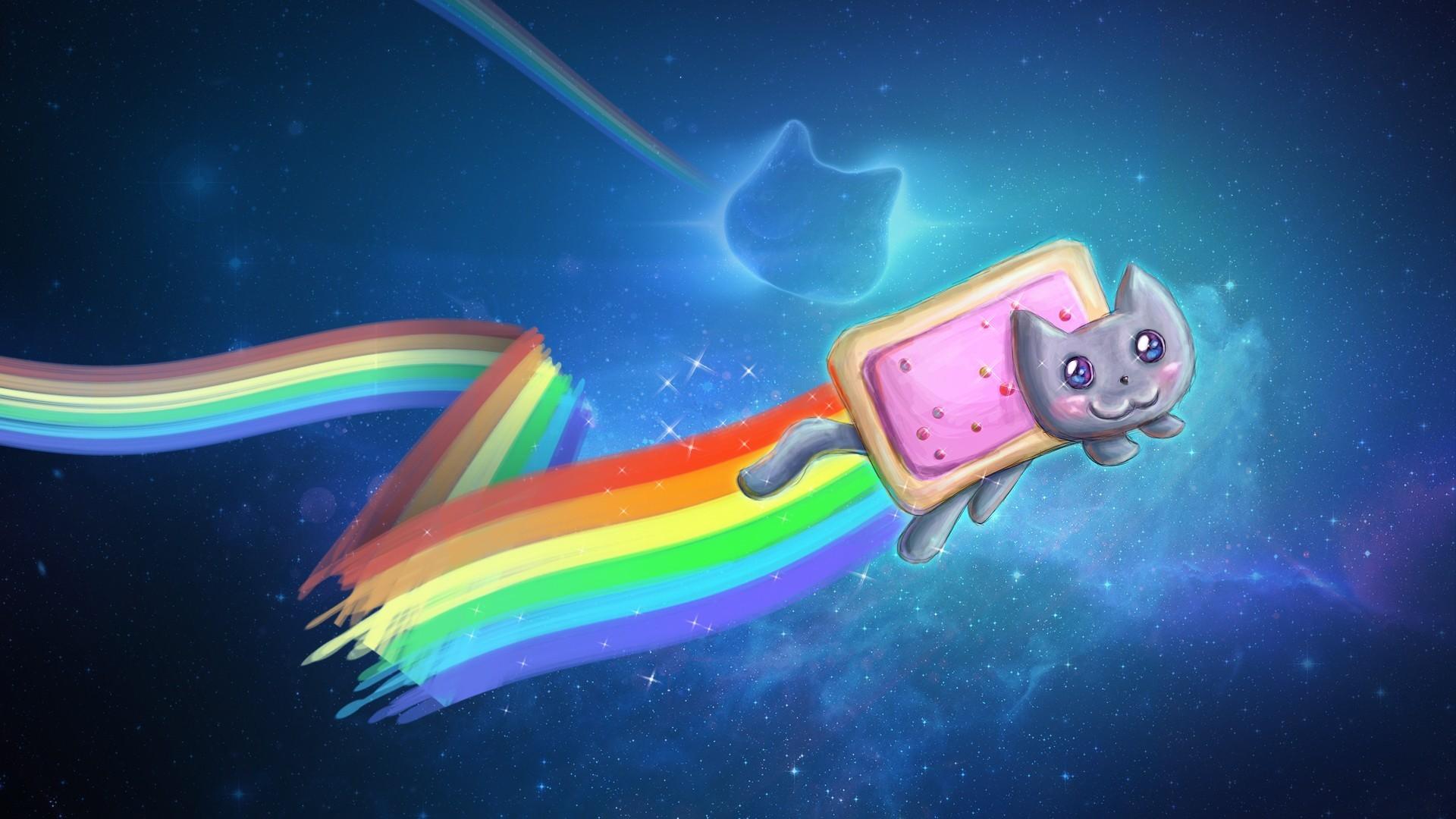 Tapety Ilustrace Prostor Kreslena Pohadka Pod Vodou Nyan Cat