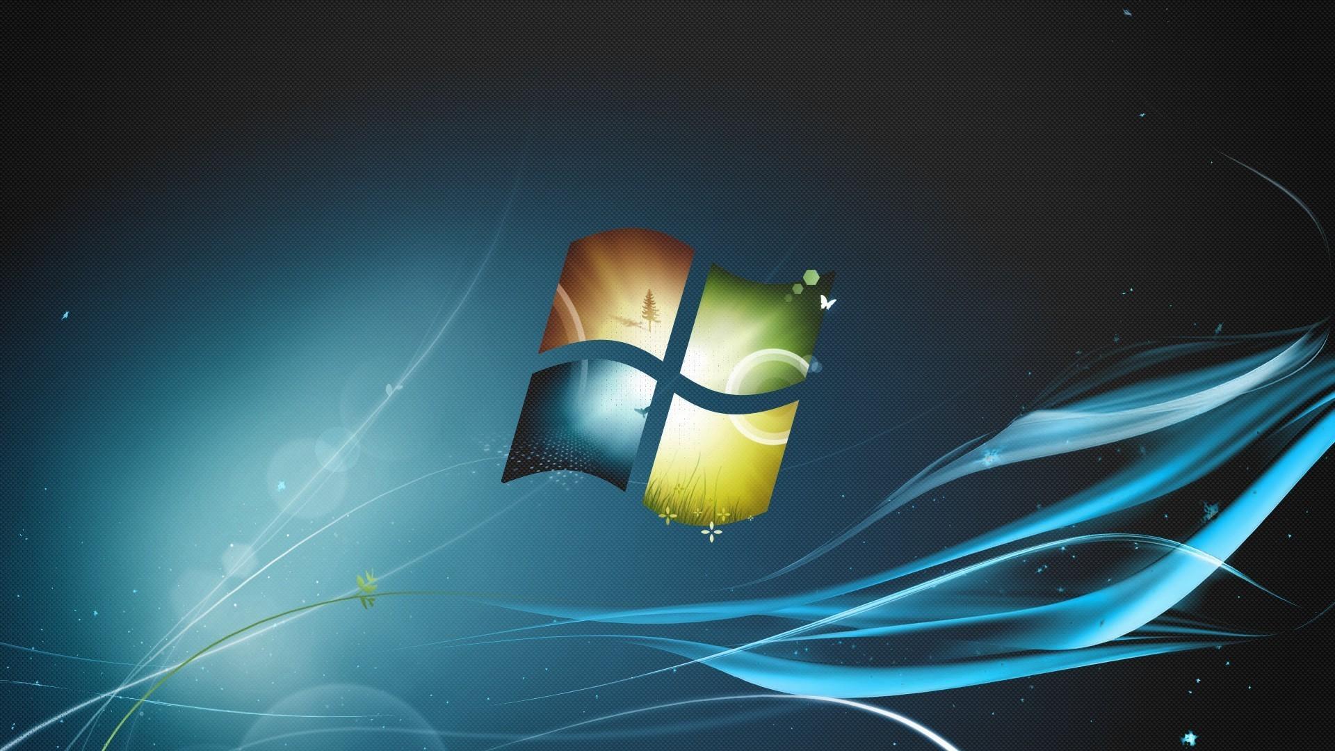 Wallpaper illustration logo microsoft windows windows - Windows 7 space wallpaper ...