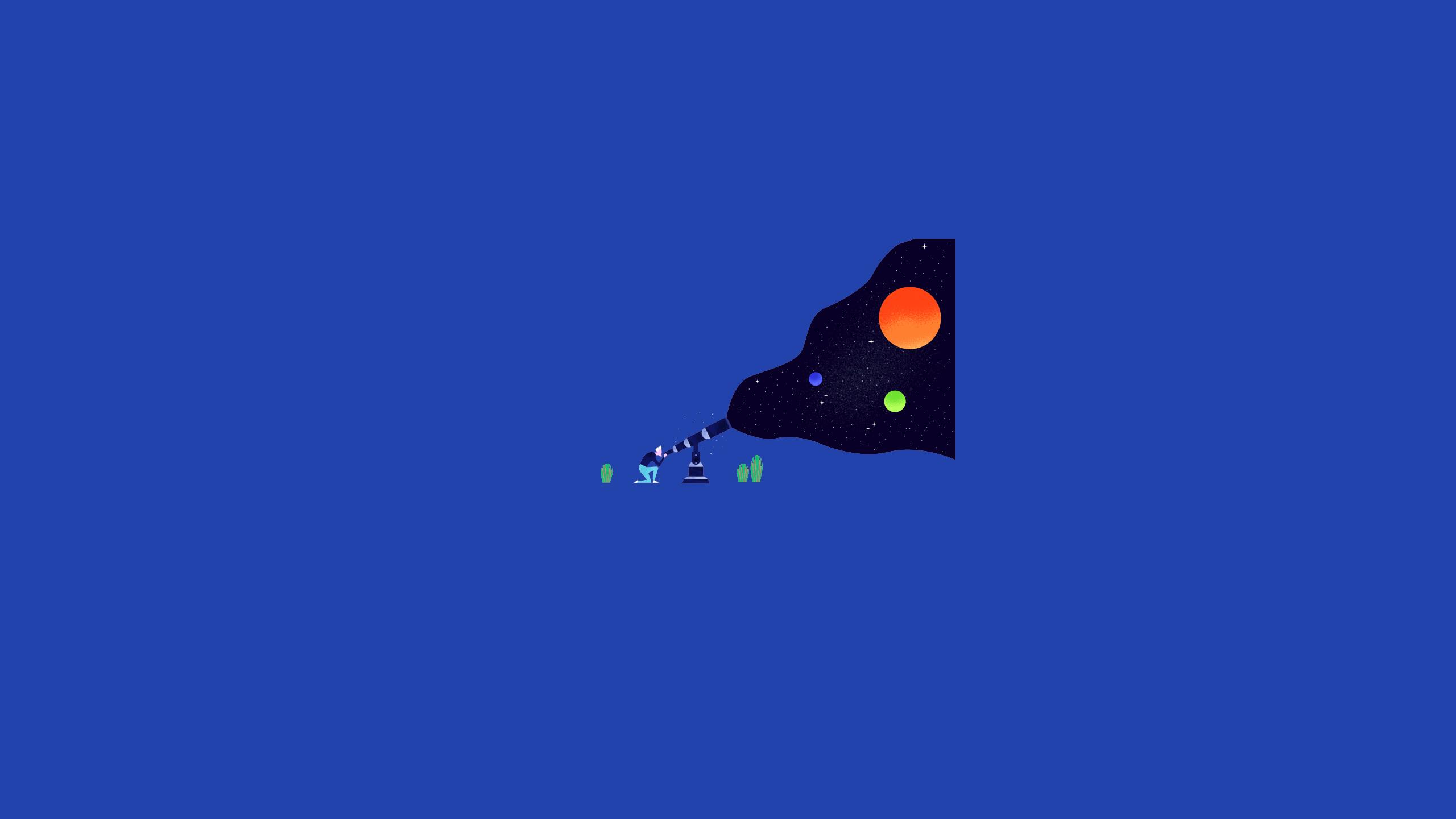 Fond Décran Illustration Espace Planète Télescope