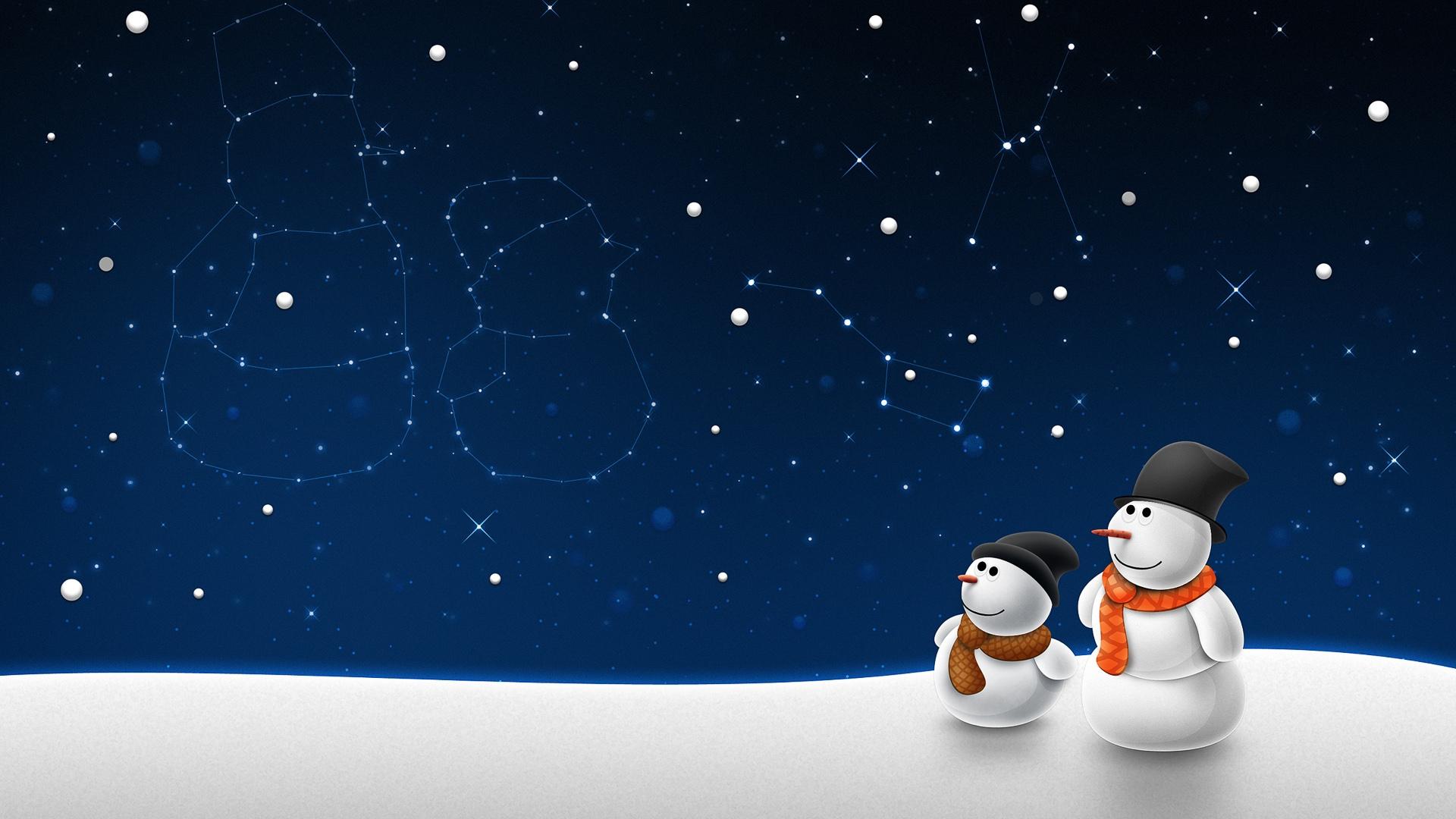 Hintergrundbilder : Illustration, Platz, Himmel, Schneemann, Neujahr ...