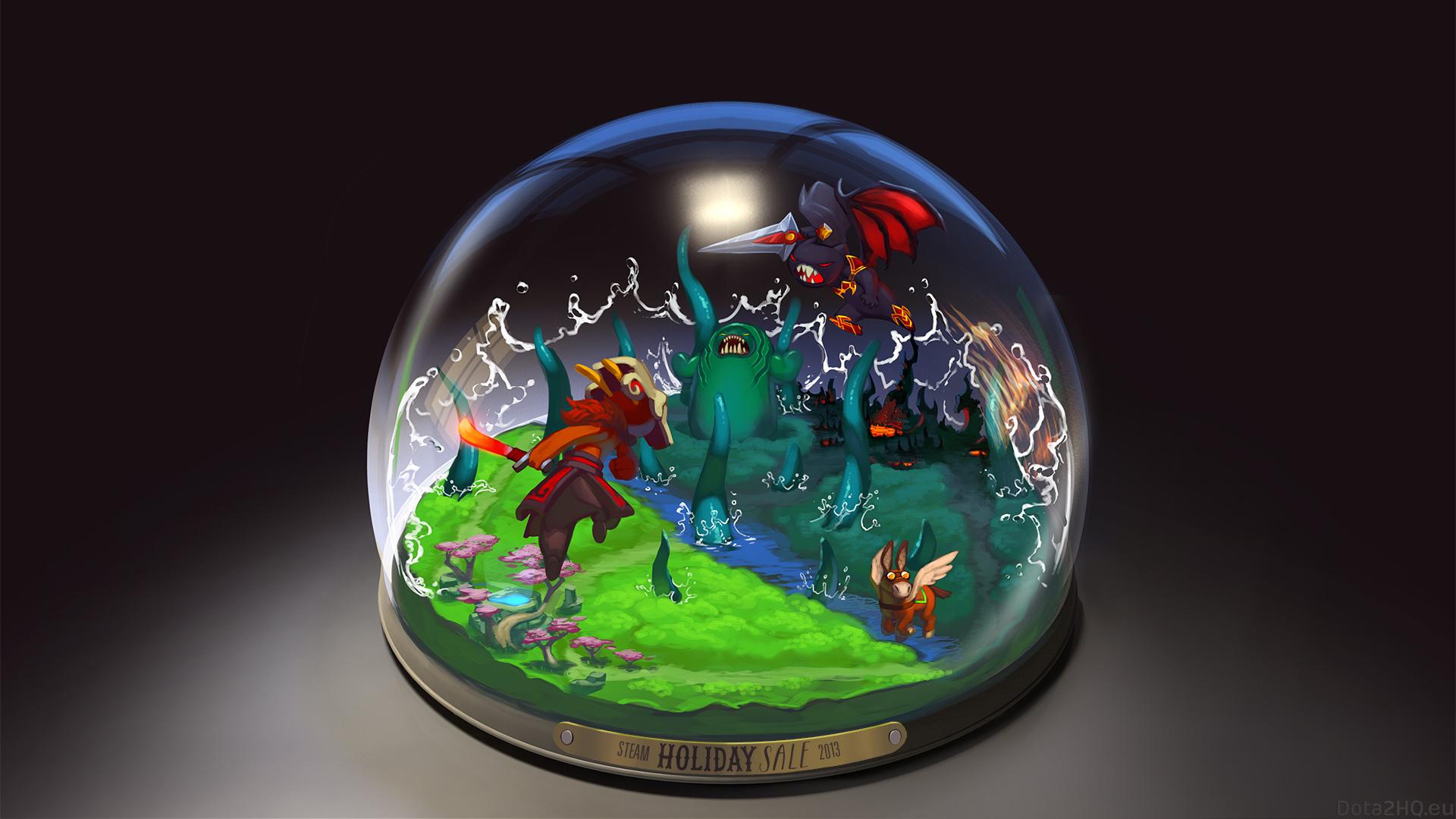 wallpaper illustration sphere earth glass dota 2 toy snow