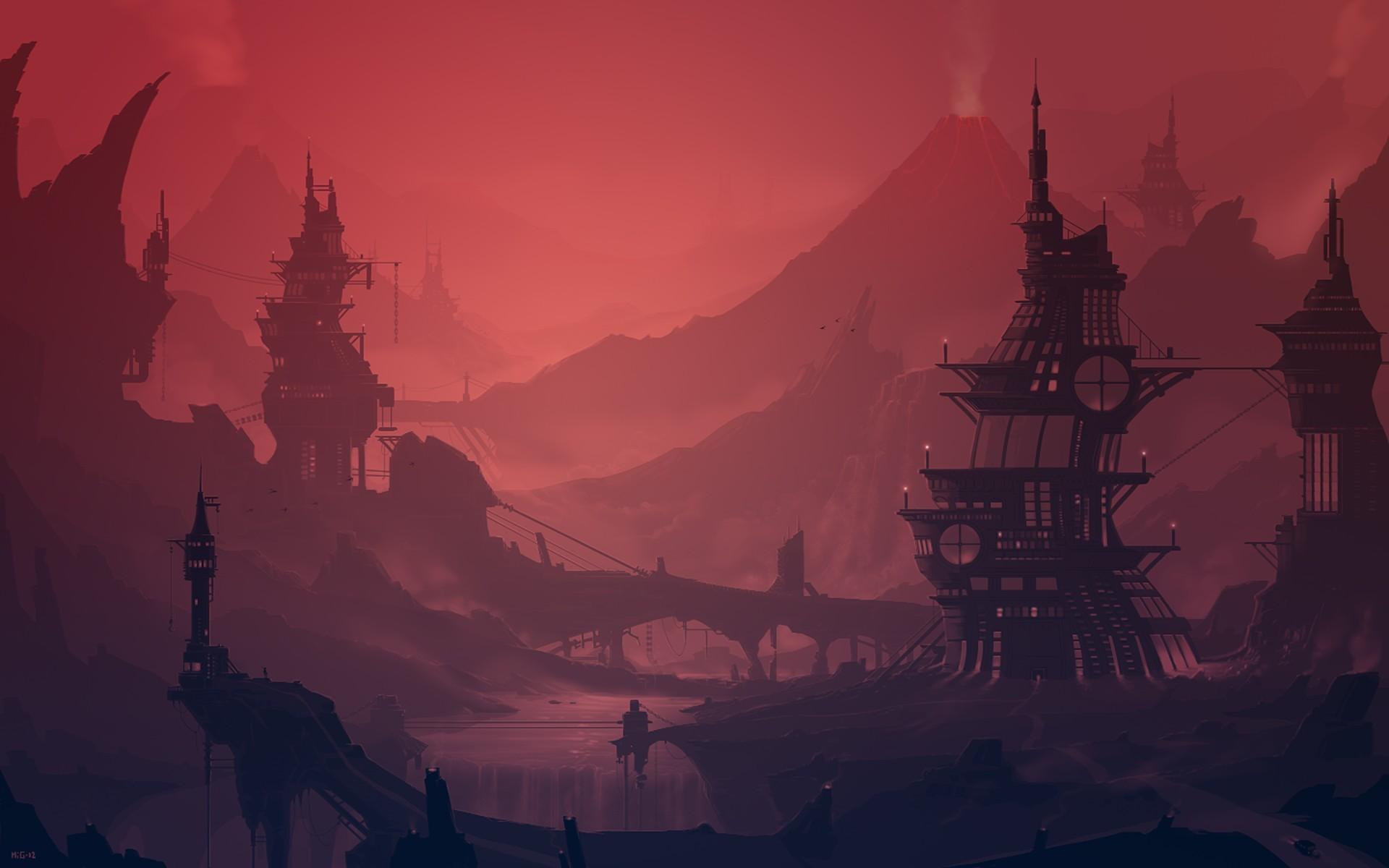 Illustration Sunset Artwork Sunrise Science Fiction Dusk Ghost Ship Dawn Darkness Screenshot Atmospheric Phenomenon Computer Wallpaper