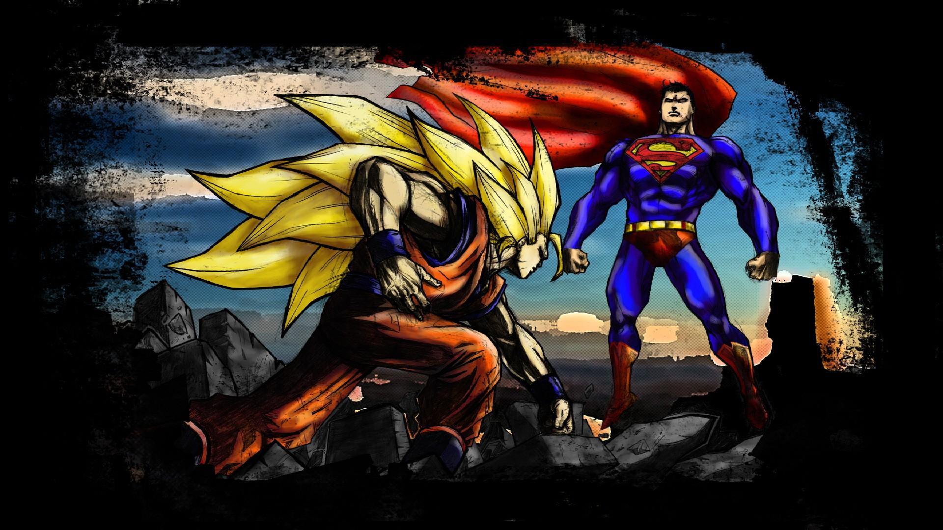 Illustration Superhero Dragon Ball Son Goku Comics Superman Super Saiyan Screenshot Computer Wallpaper Fictional Character Comic
