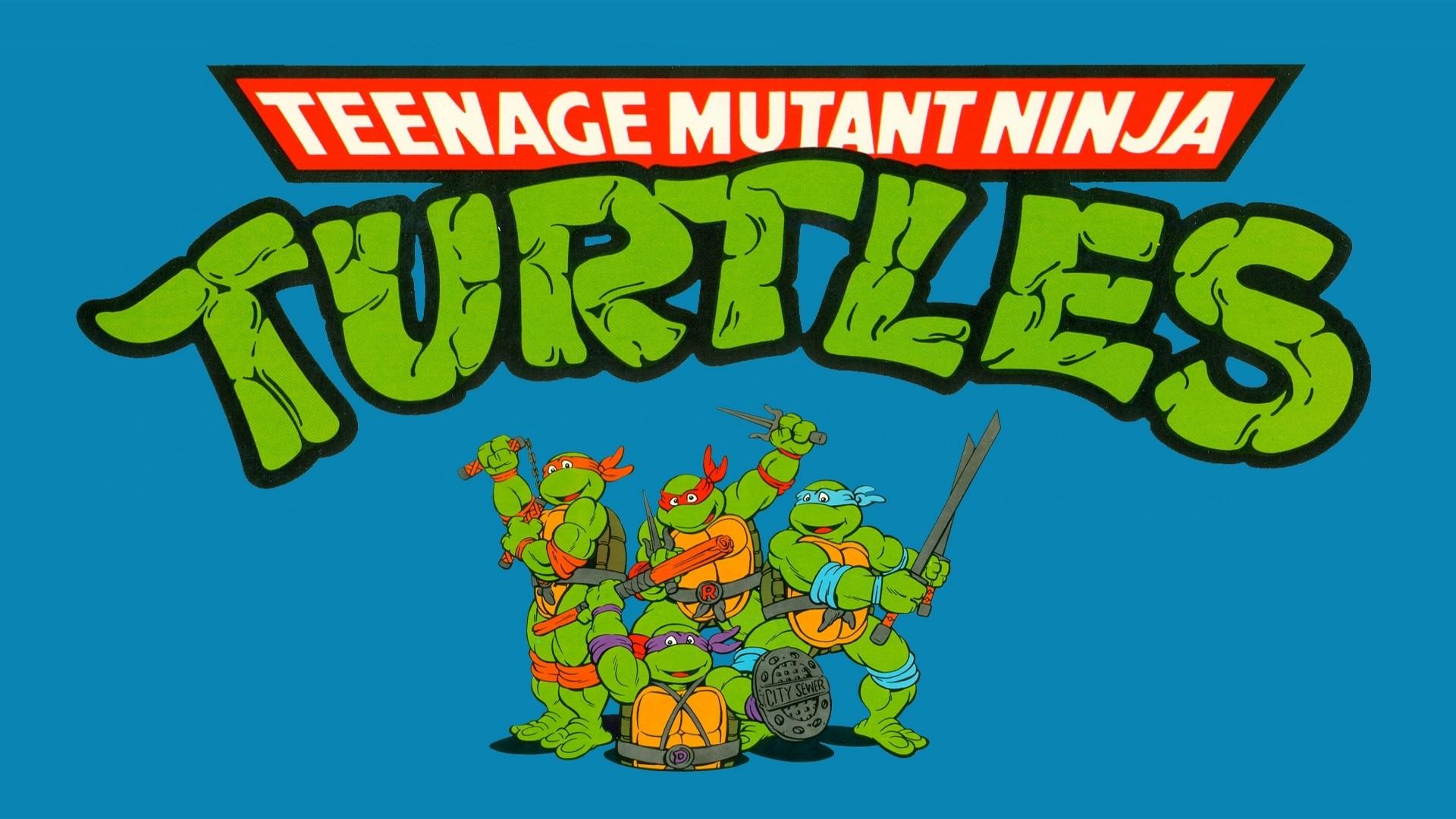 Wallpaper Ilustrasi Teks Gambar Kartun Teenage Mutant