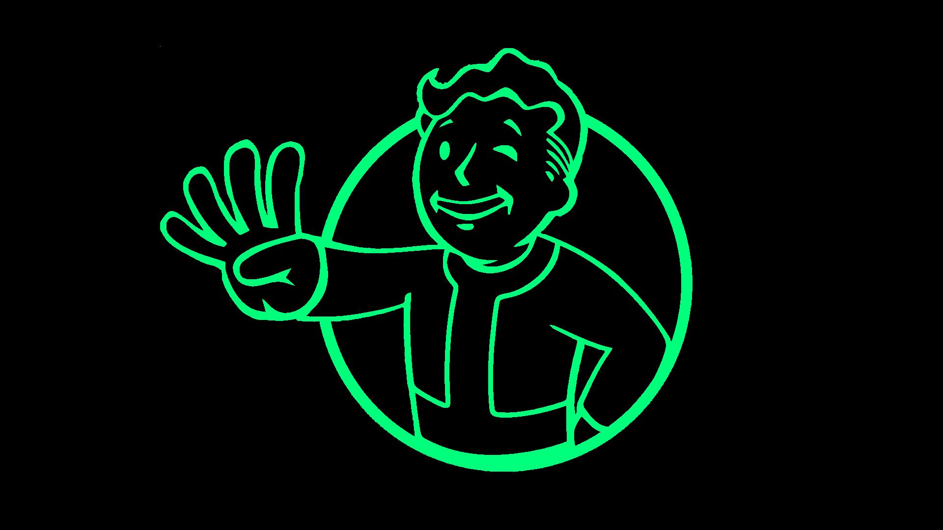 wallpaper : illustration, text, logo, circle, fallout 4, vault boy