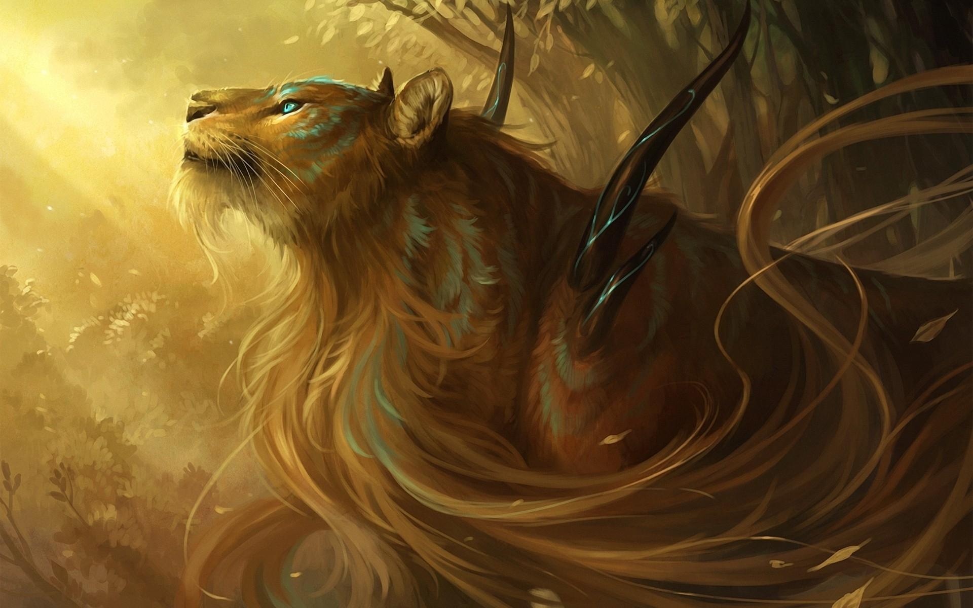 мифический лев картинки встречала