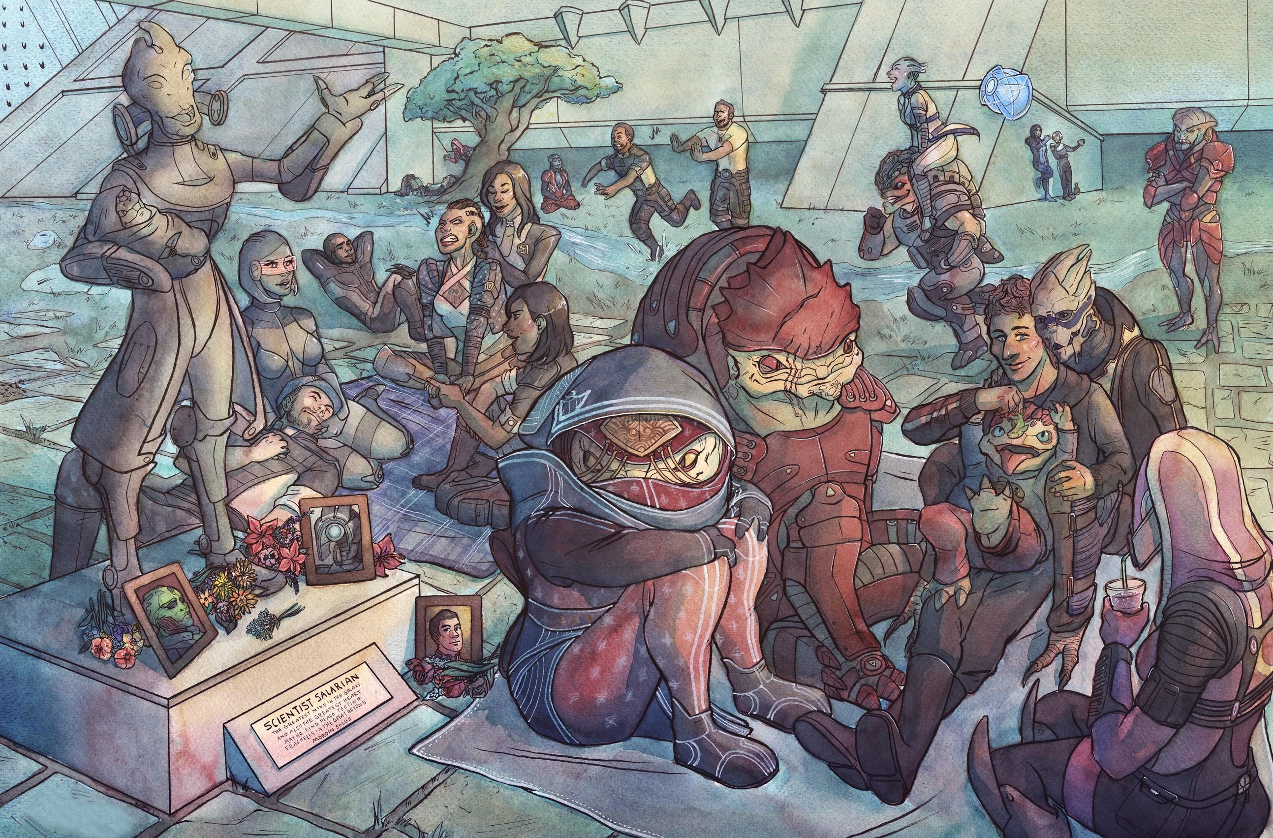 Wallpaper Illustration Video Games Mass Effect Artwork