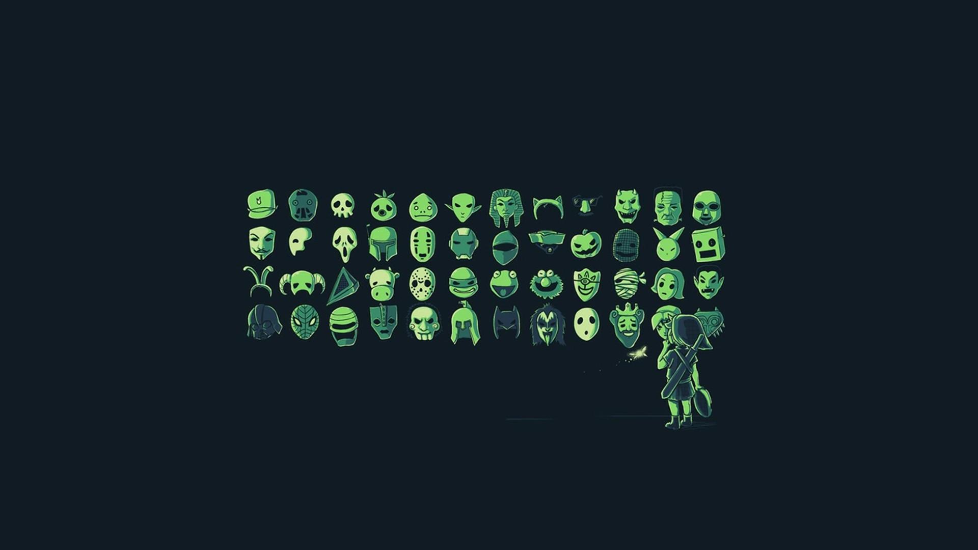 Wallpaper Illustration Video Games Artwork Mask Text Logo
