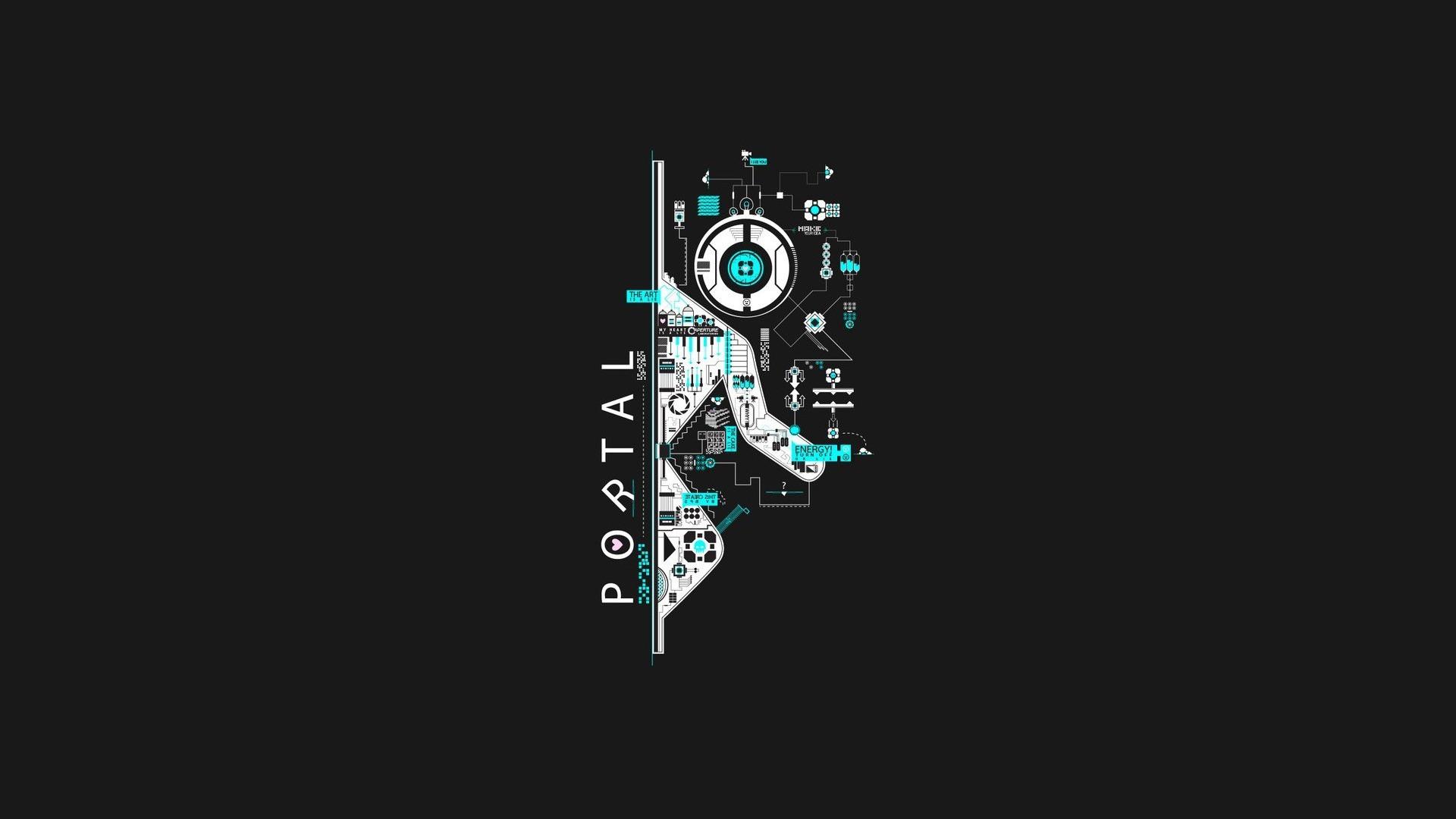 Wallpaper Illustration Video Games Artwork Text Logo Portal 2 Game Circuits Glados Brand Companion Cube Valve