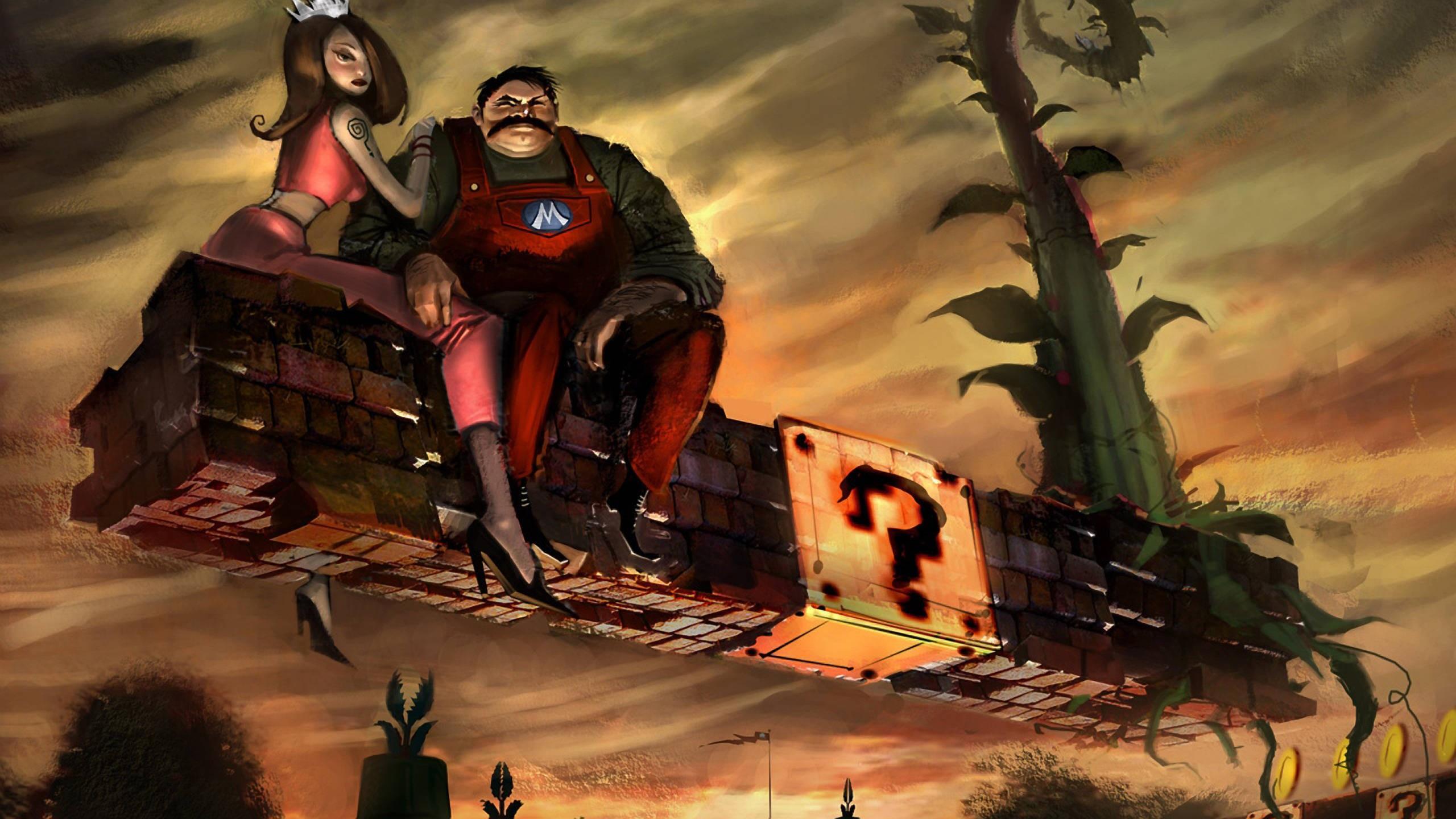 デスクトップ壁紙 図 ビデオゲーム ダーク スーパーマリオ