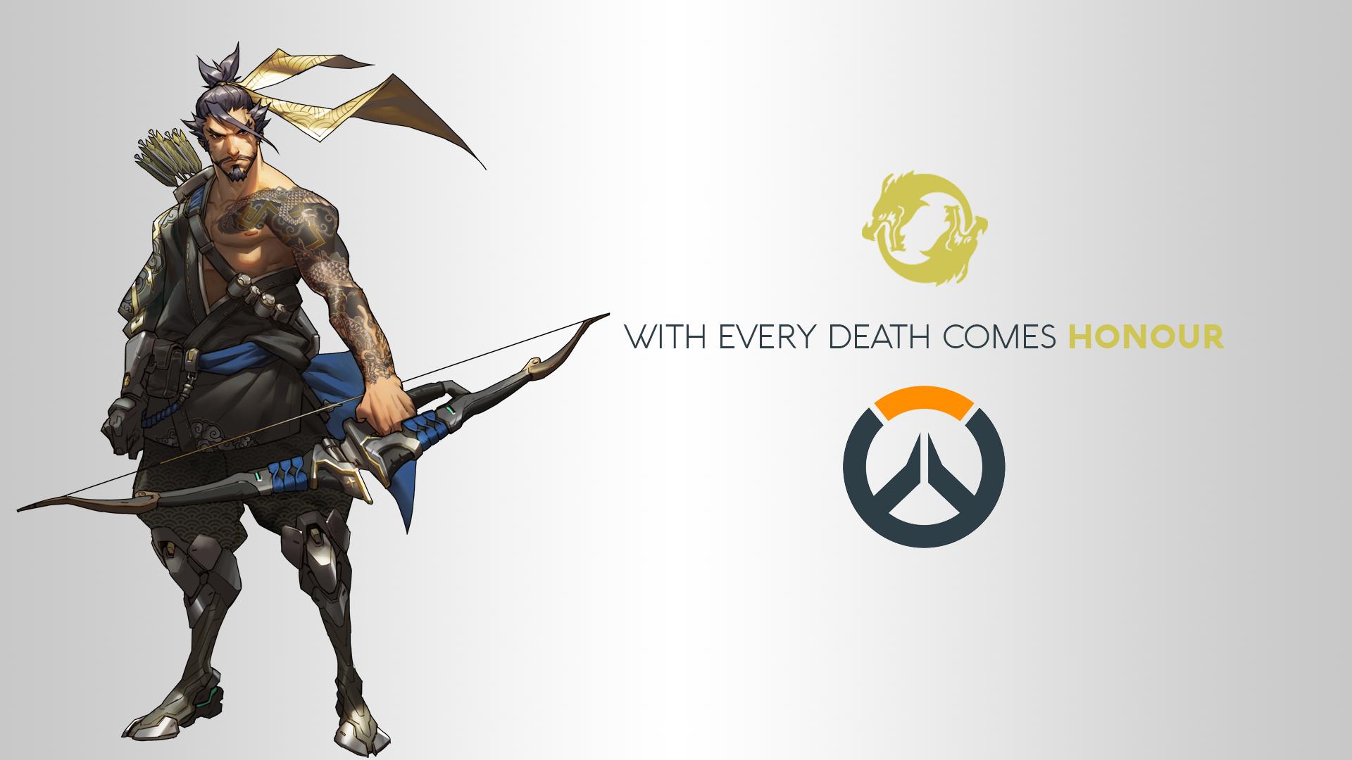 Wallpaper Illustration Video Games Logo Hanzo Overwatch