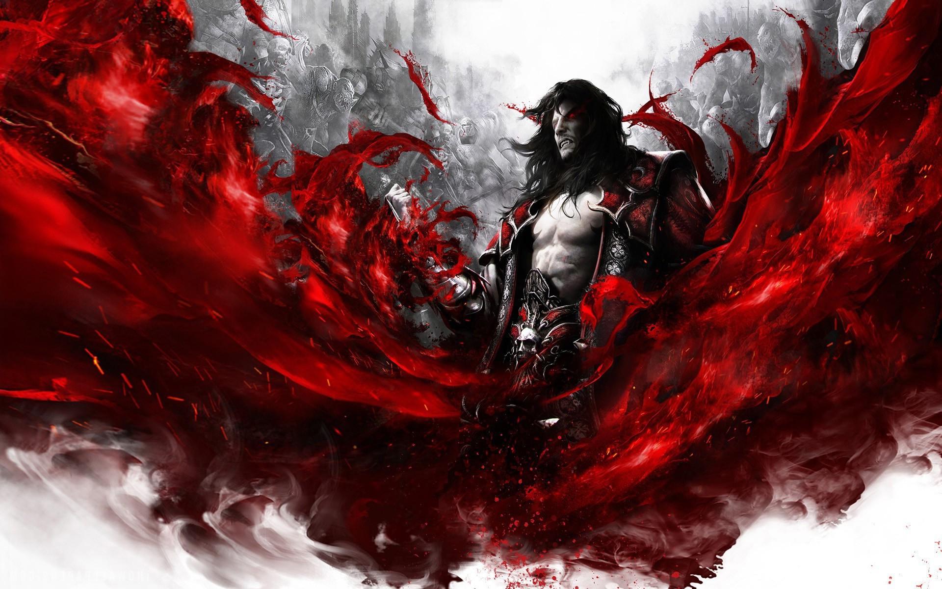 Wallpaper : illustration, video games, red, blood, vampires