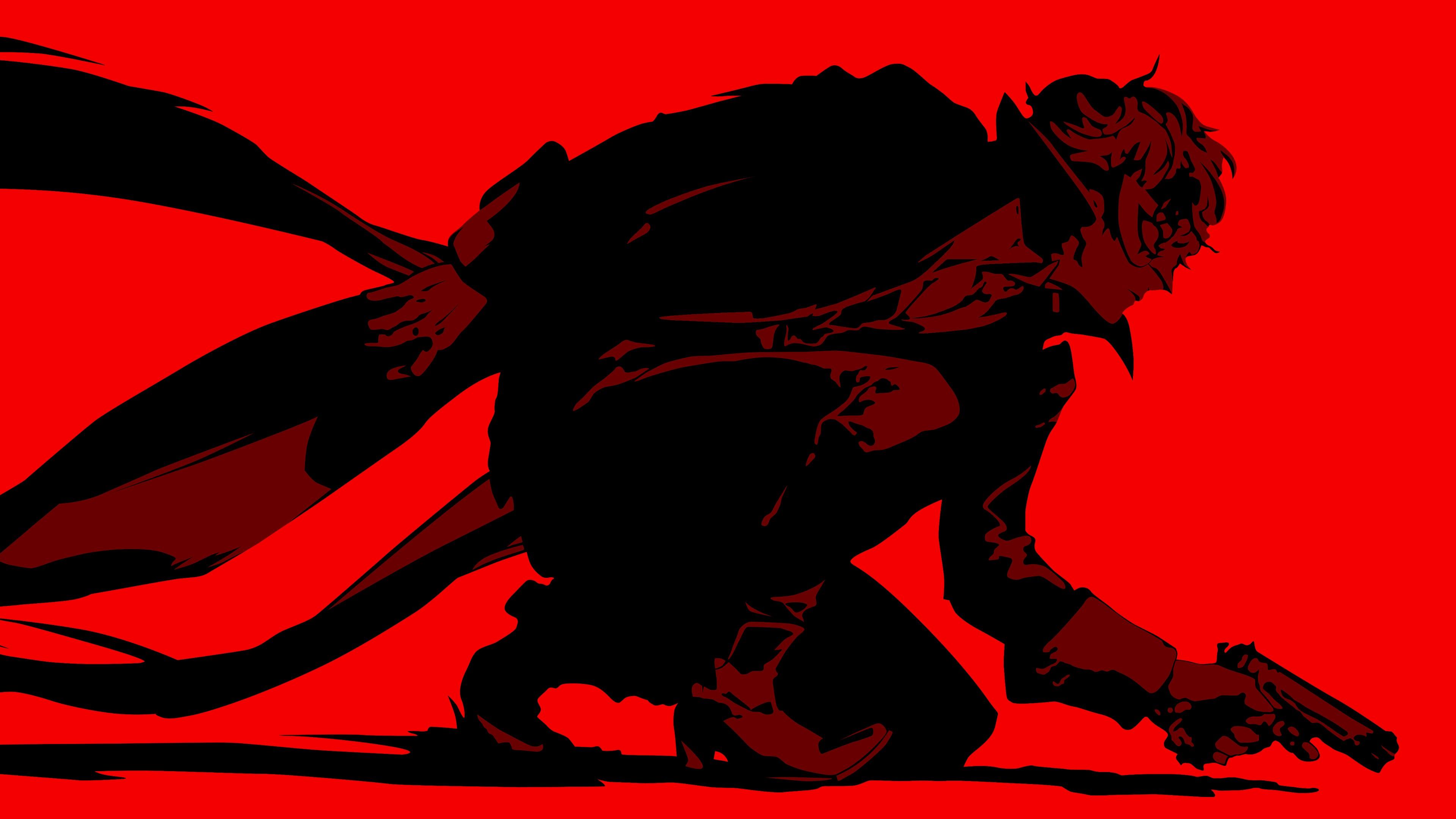 Wallpaper Illustration Video Games Silhouette Persona 5 Demon