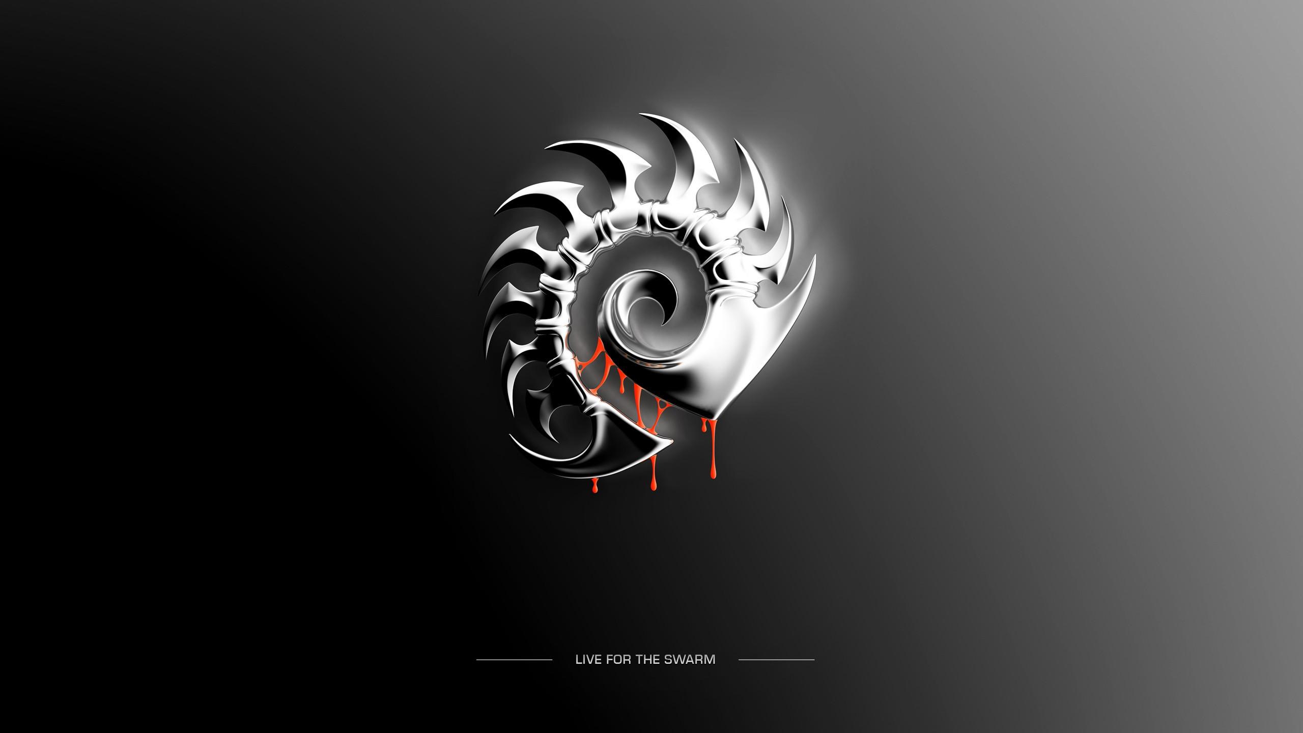 Wallpaper Illustration Video Games Text Logo Circle Starcraft