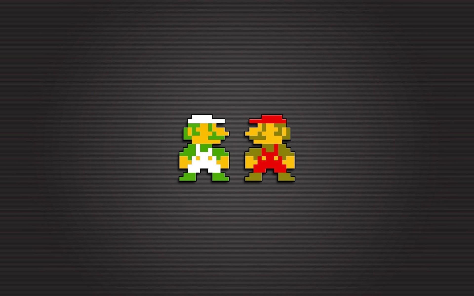 illustration video games text logo pixels 8 bit brand Mario Bros Nintendo Entertainment System Luigi number