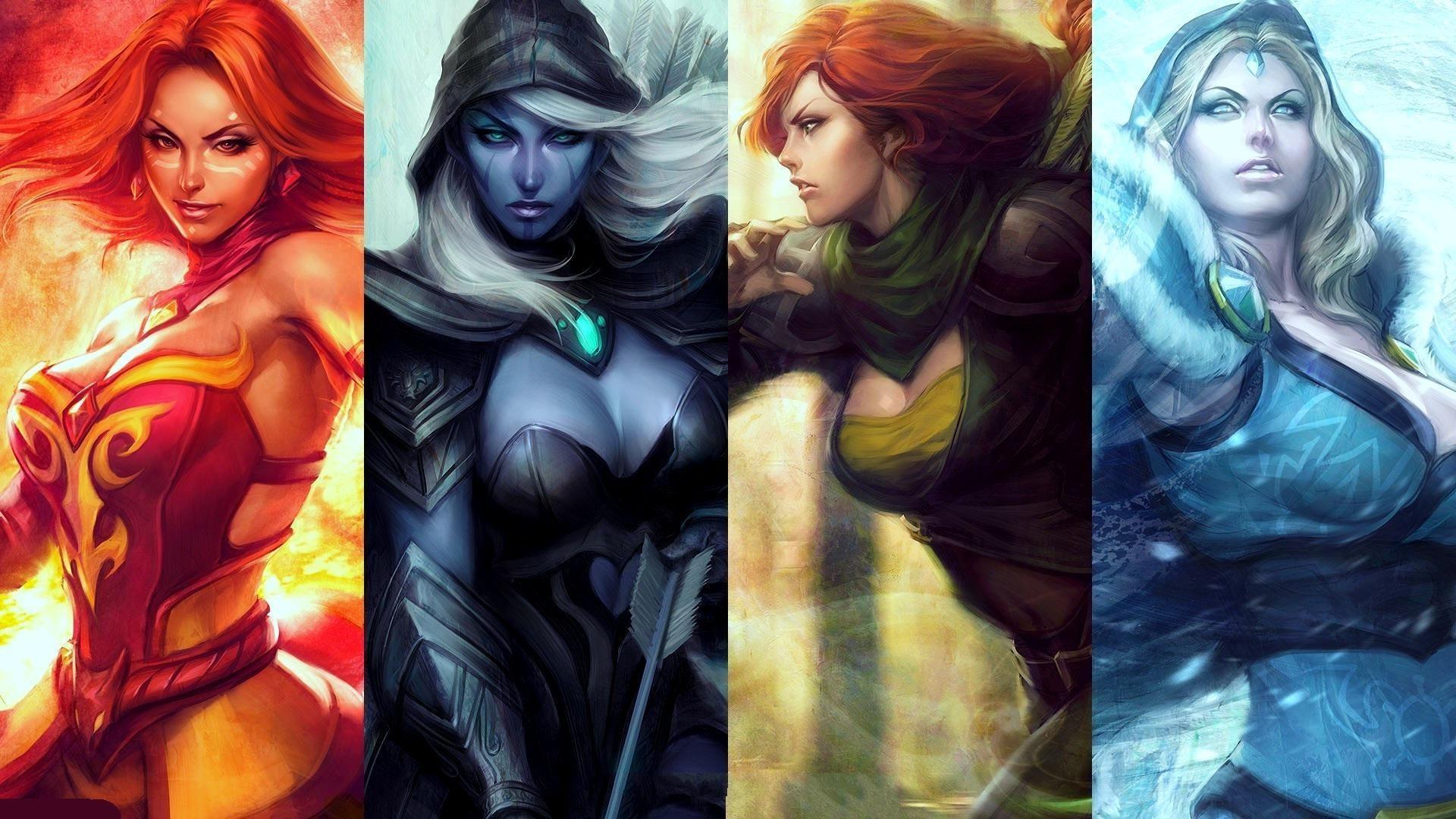 Дота женские персонажи картинки