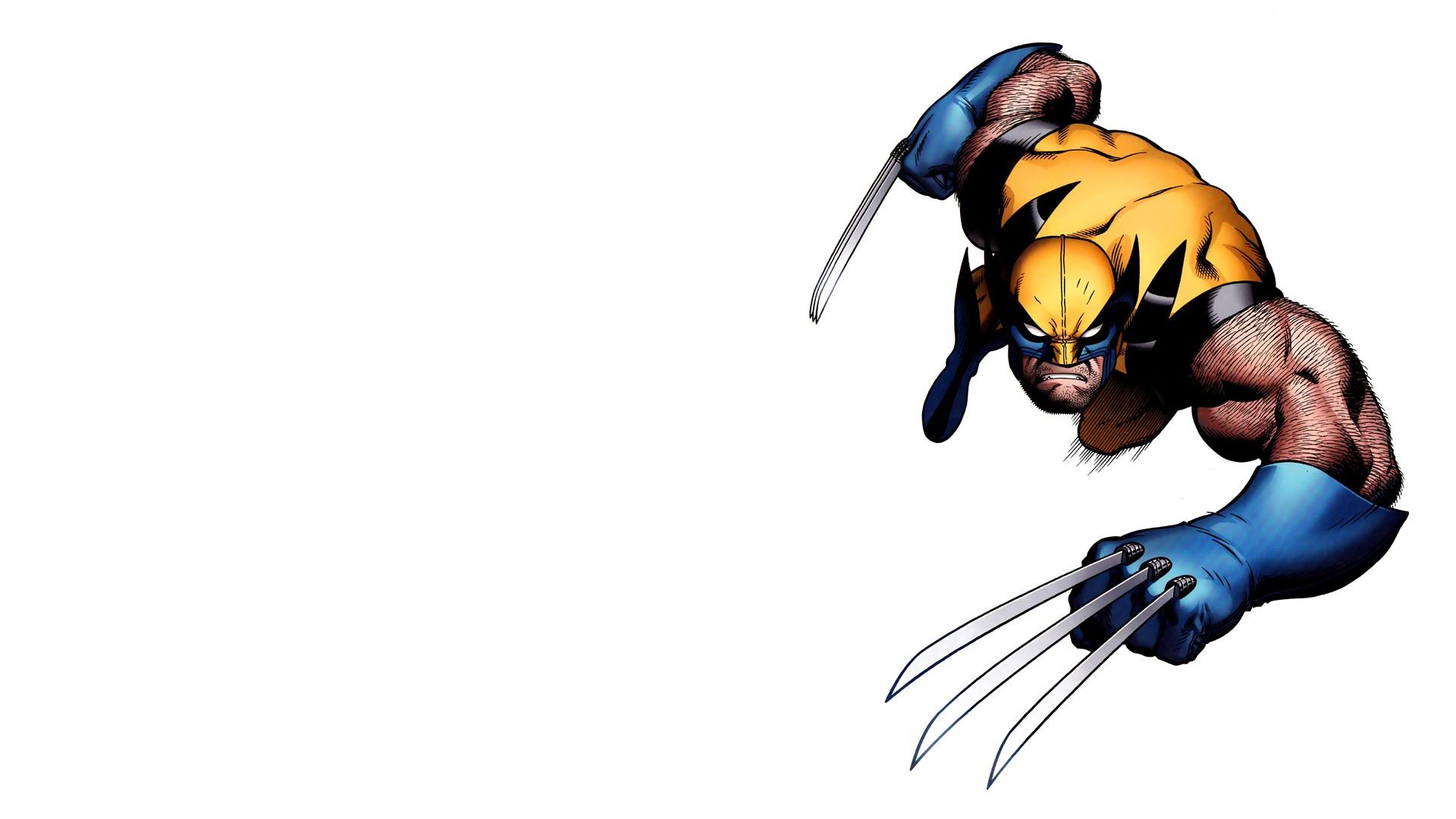 Wallpaper Illustration White Background Wolverine Cartoon
