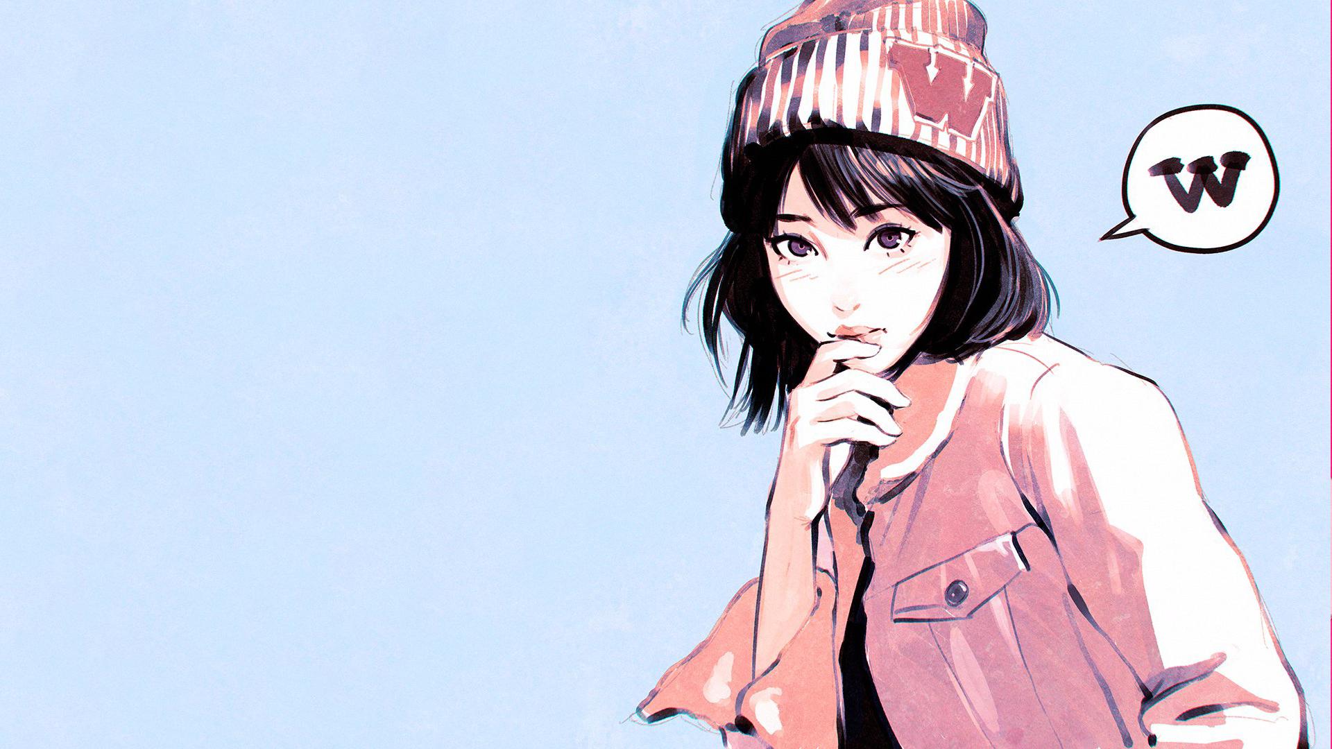 Fondos De Pantalla Ilustracion Mujer Anime Obra De Arte