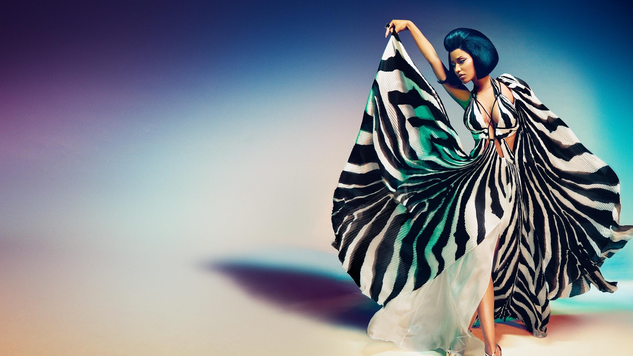 Wallpaper Illustration Women Blue Nicki Minaj Color