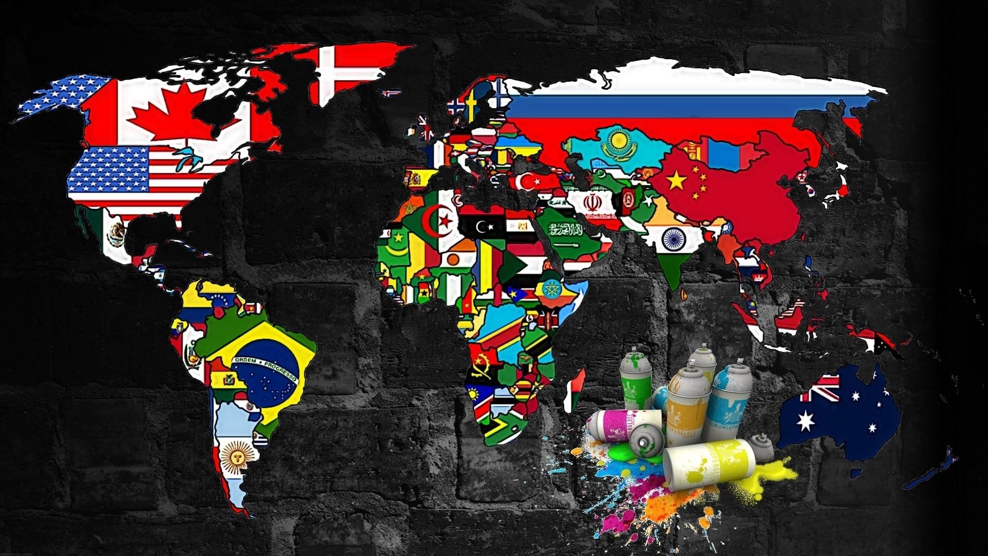 Wallpaper illustration graffiti toy world map spray murales illustration world map graffiti toy world map spray murales art color gumiabroncs Choice Image
