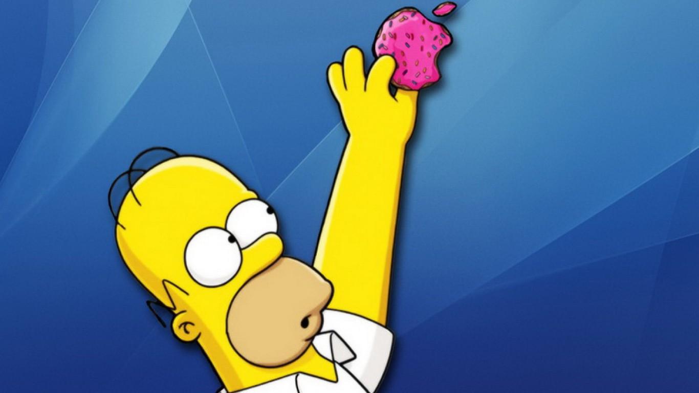 Fond d'écran : illustration, jaune, dessin animé, Les Simpsons, la télé, Homer Simpson, marque ...