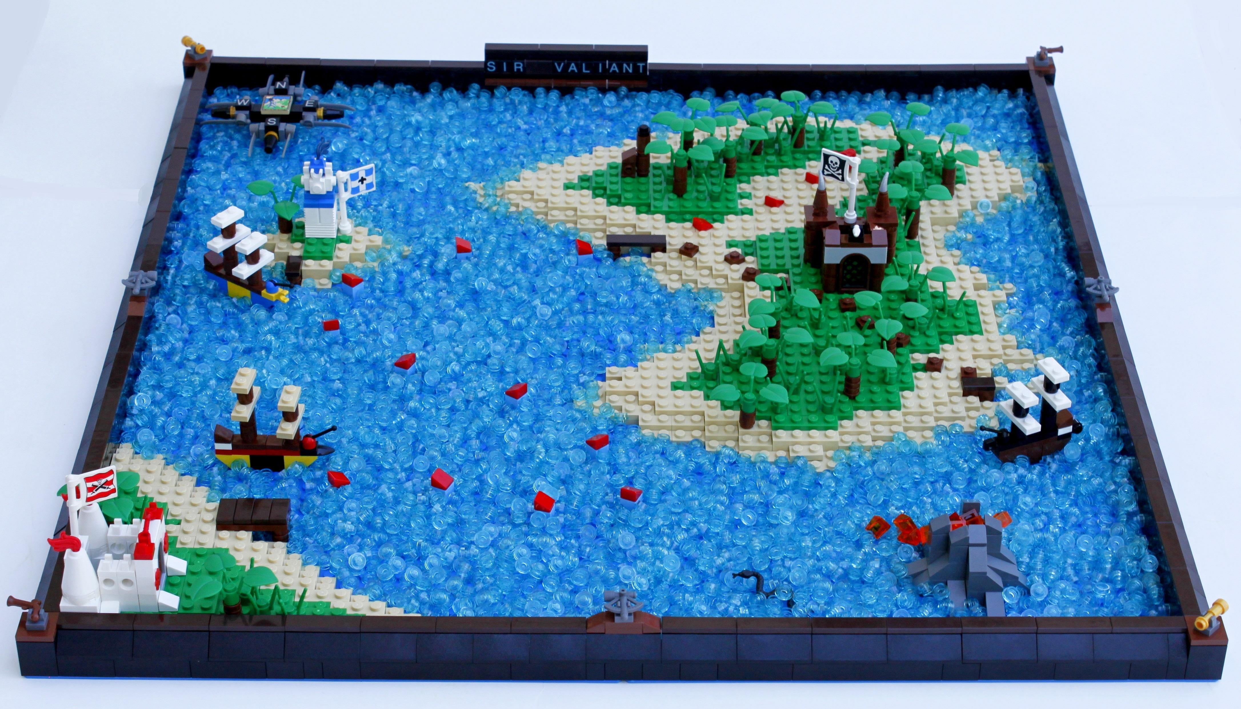 Fond d 39 cran le lego les pirates pirate construire manteaux rouges bluecoats moc - Ile pirate lego ...