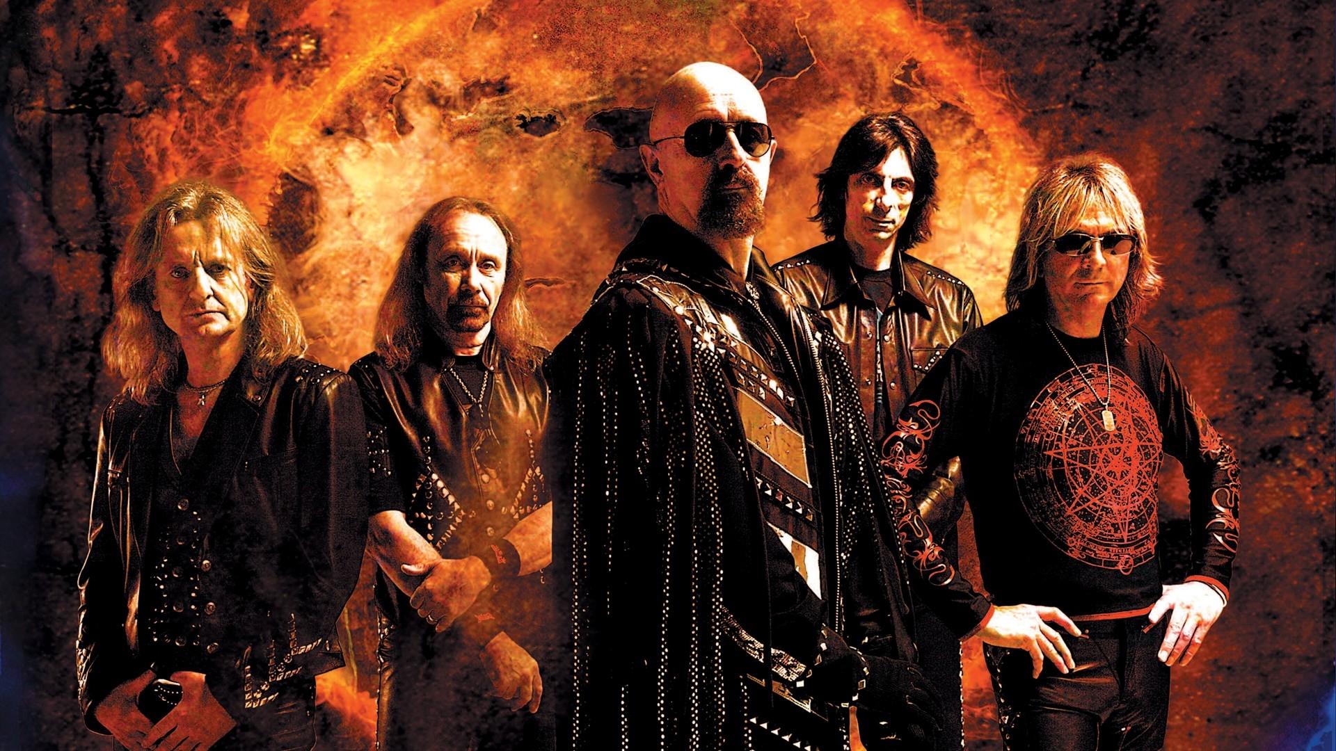 Wallpaper Judas Priest Band Graphics Costumes Print
