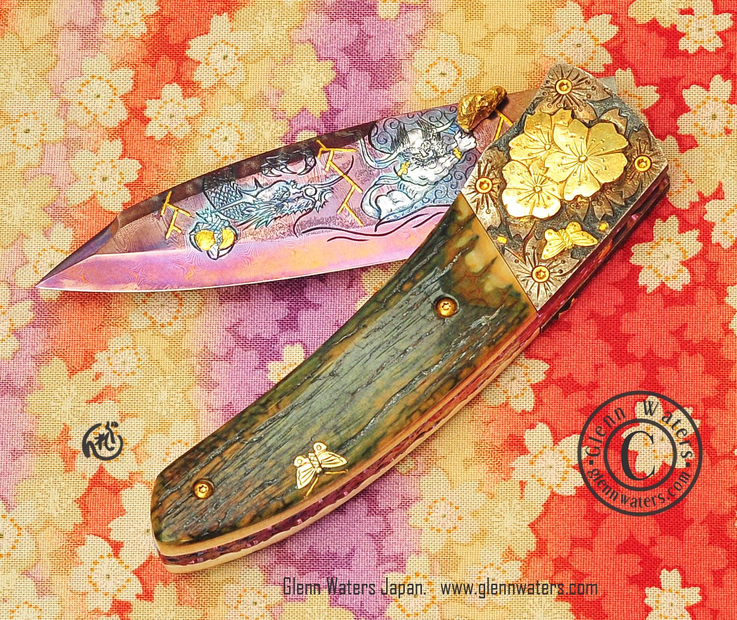 Wallpaper : knife, edc, Damascus