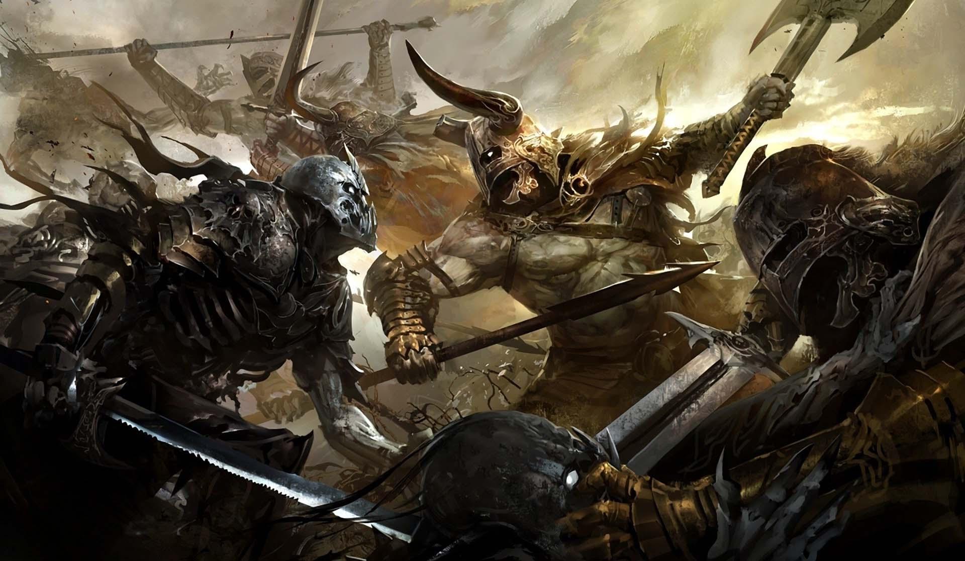 Wallpaper Knight War Battle Weapon Warrior Demon
