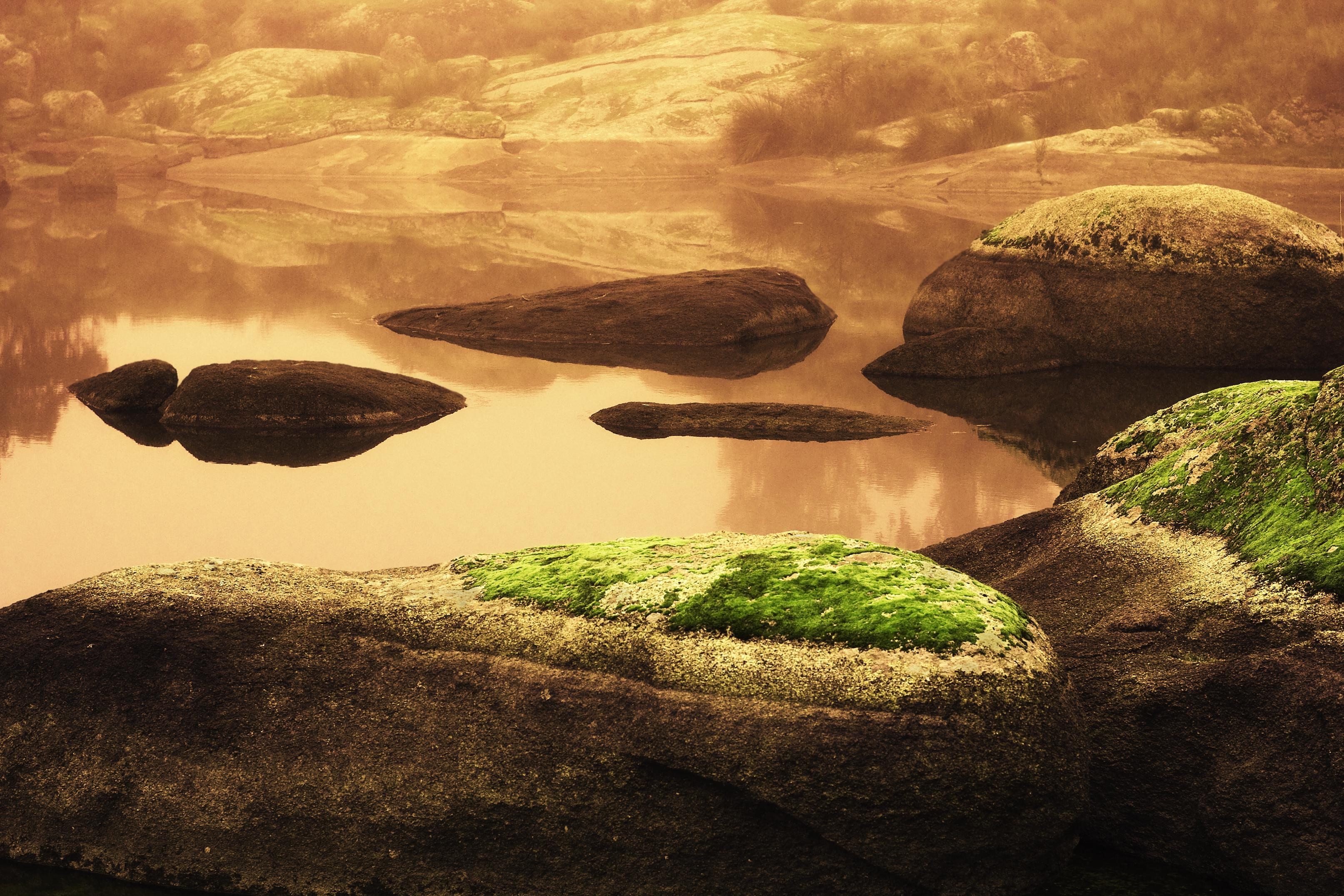 Wallpaper Landscape Photoshop Sea Lake Water Rock
