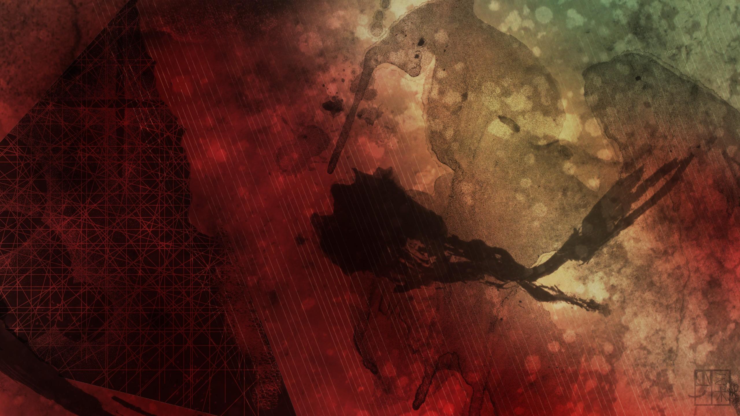 Fond Décran Paysage Abstrait Rouge Ciel Grunge
